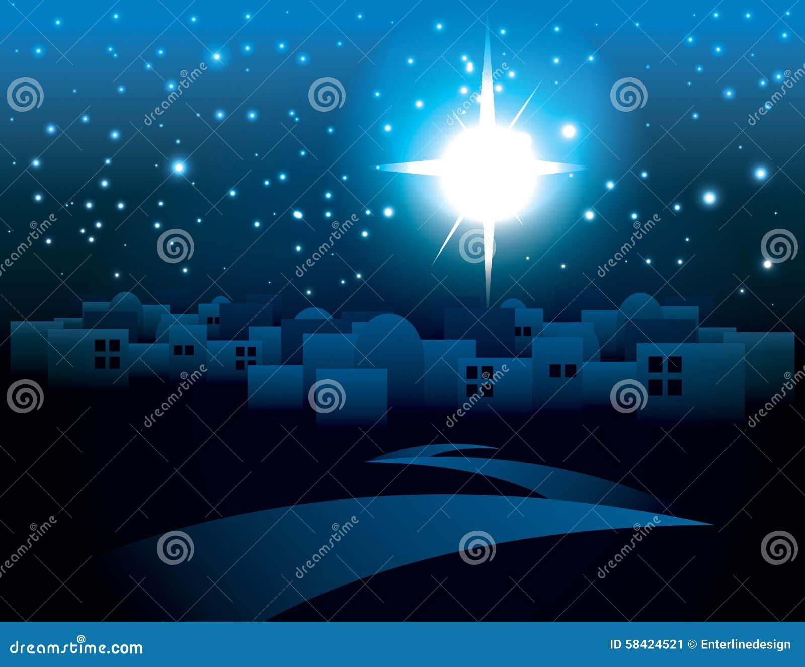 Ejemplo de la estrella de la Navidad de Belén
