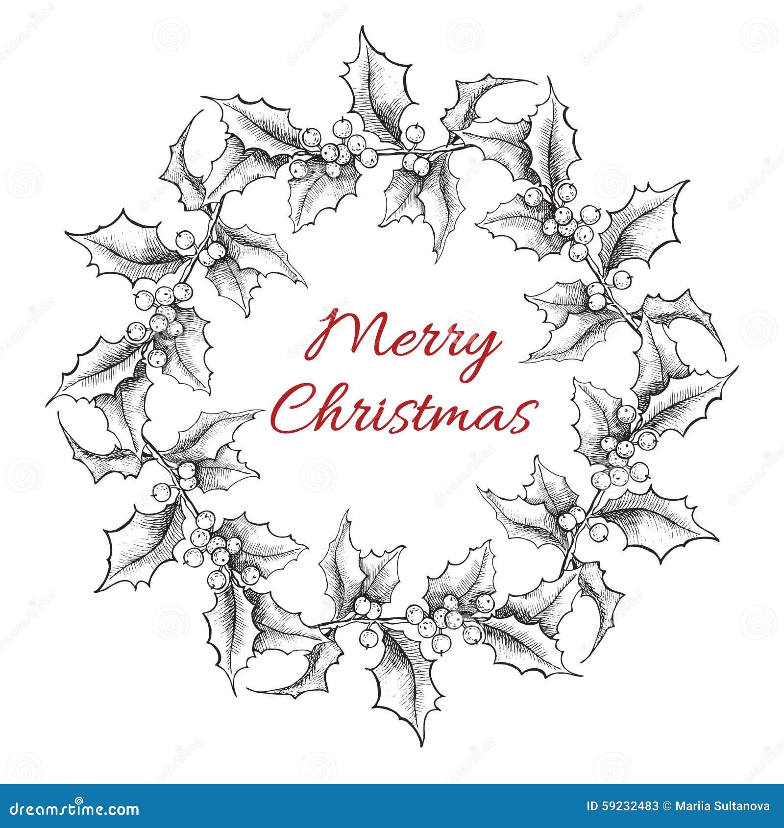 Download Ejemplo De La Guirnalda De La Navidad Del Grabado Del Vintage Ilustración del Vector - Ilustración de arte, retro: 59232483