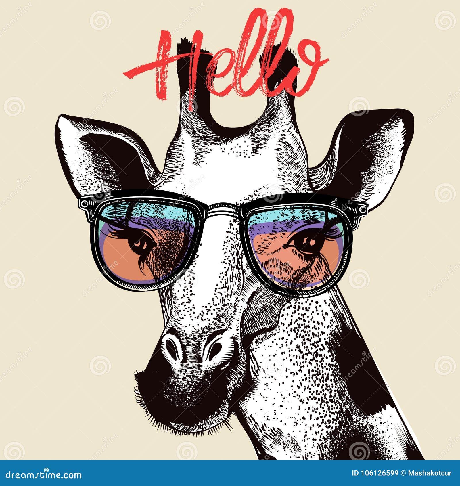 Ejemplo de la moda con la jirafa linda