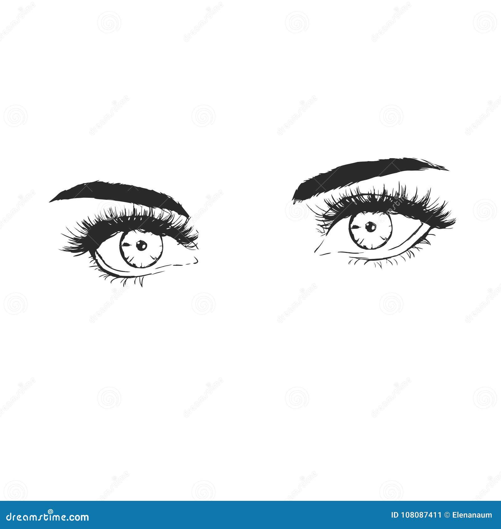 Ejemplo De La Moda Con Los Ojos Hermosos Ilustración Del Vector