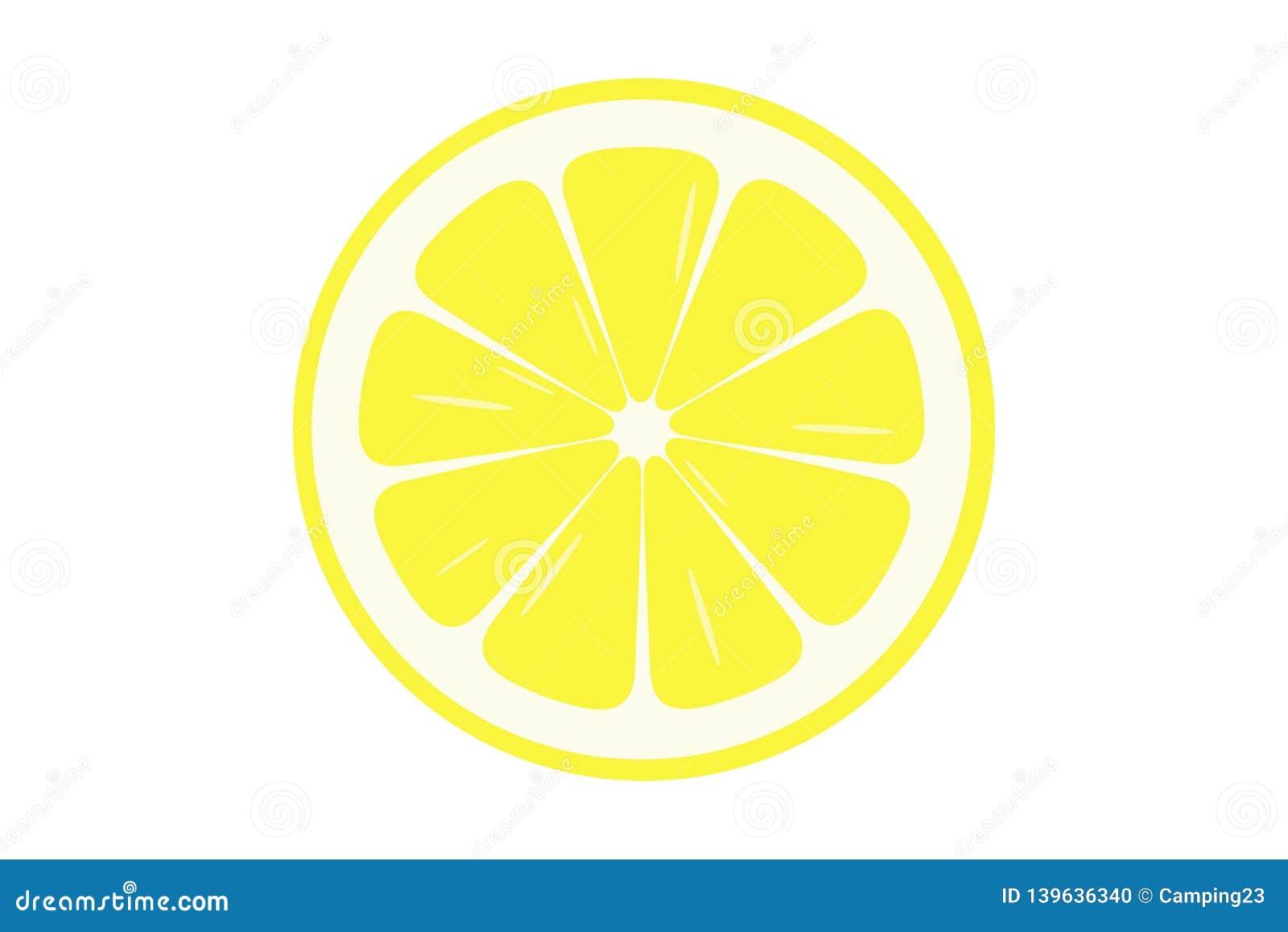 Ejemplo de la rebanada del limón - vector