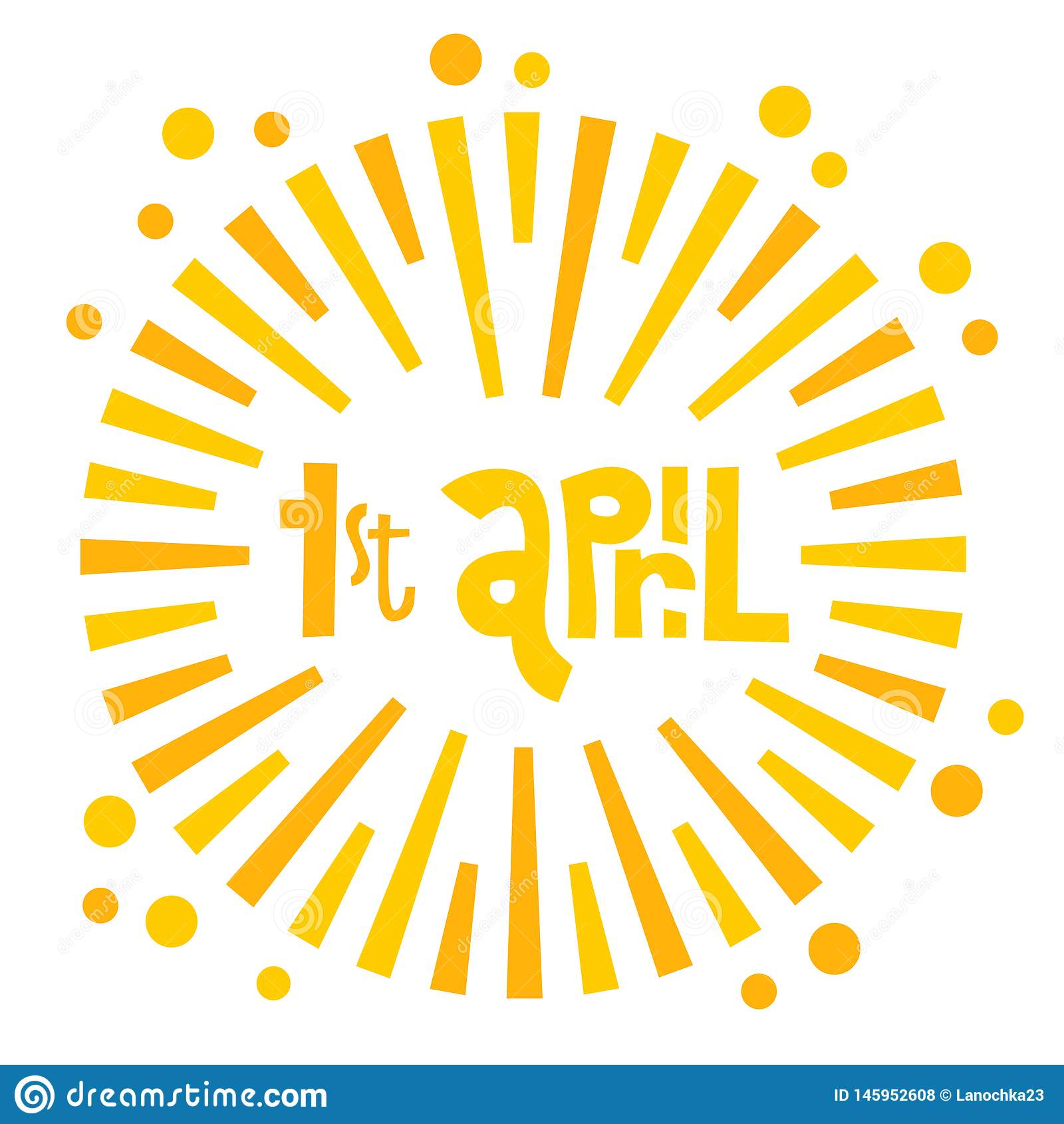 Ejemplo de la tarjeta de felicitaci?n del d?a de los tontos felices en el fondo blanco 1 de abril el lettring dibujado mano con e