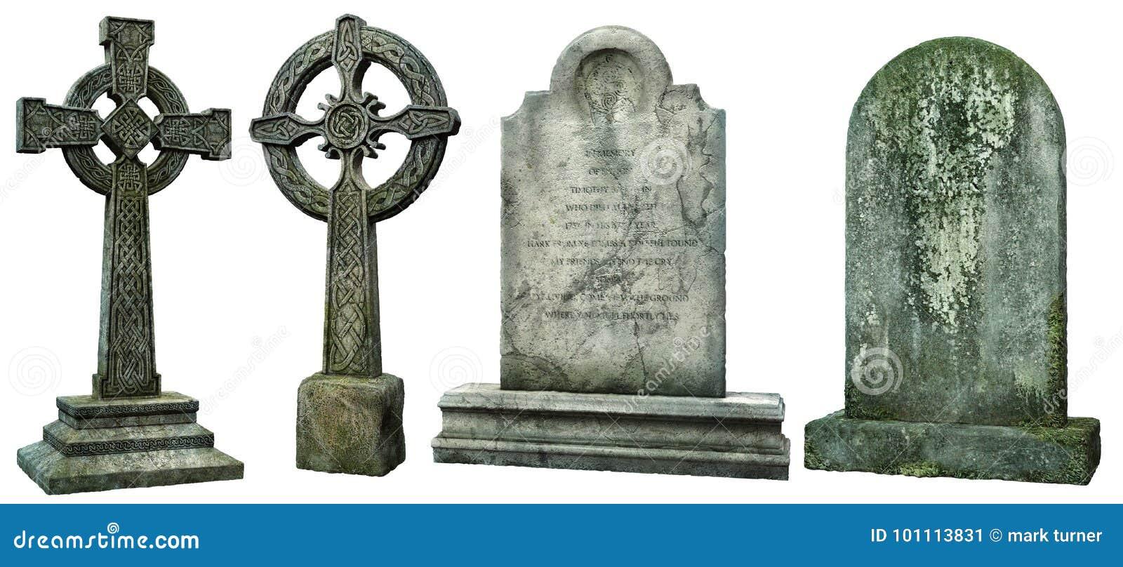 Ejemplo de las lápidas mortuorias 3D