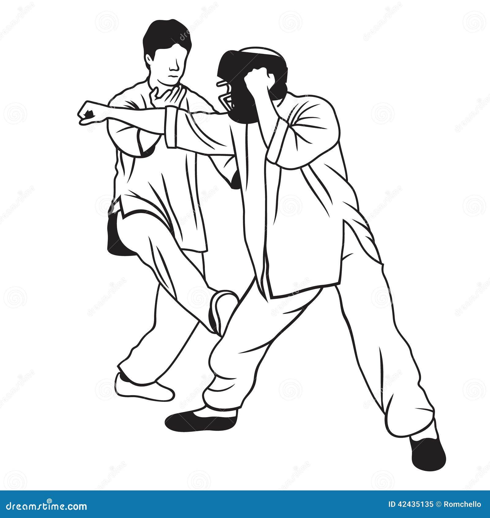 Ejemplo de los artes marciales