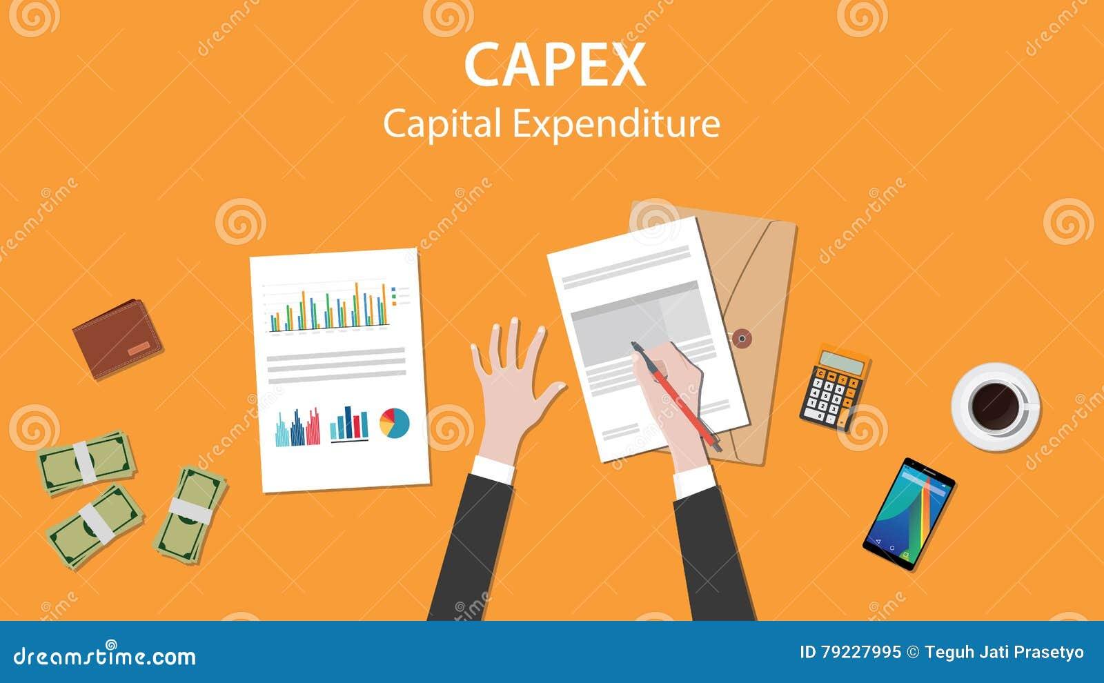 Ejemplo De Los Gastos En Inversión De Capital De Capex Con El Hombre ...