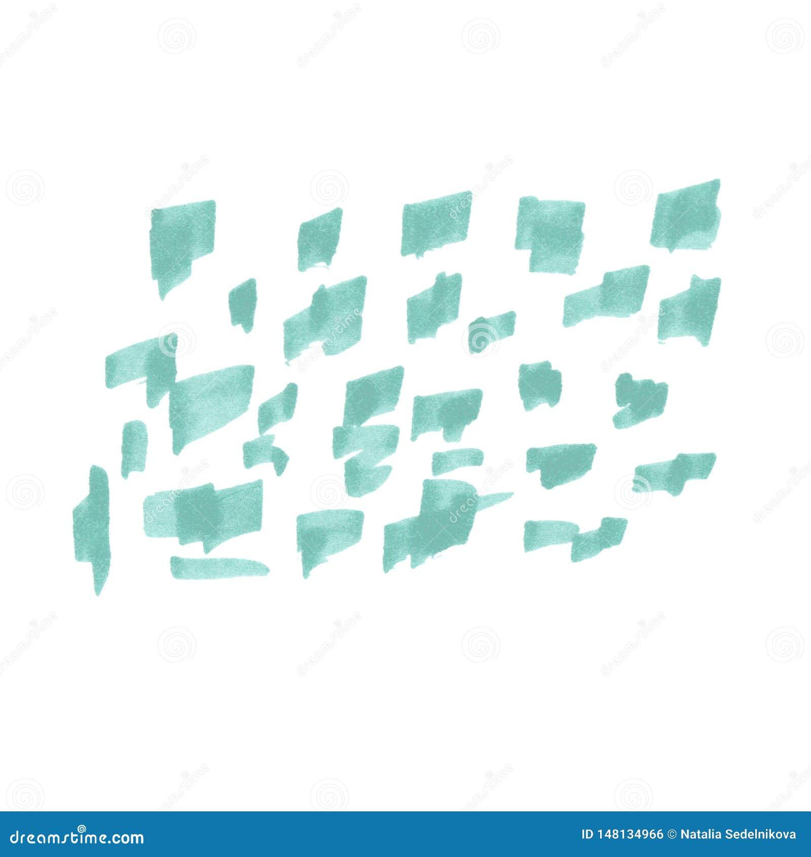 Ejemplo de los marcadores abstractos del garabato del fondo