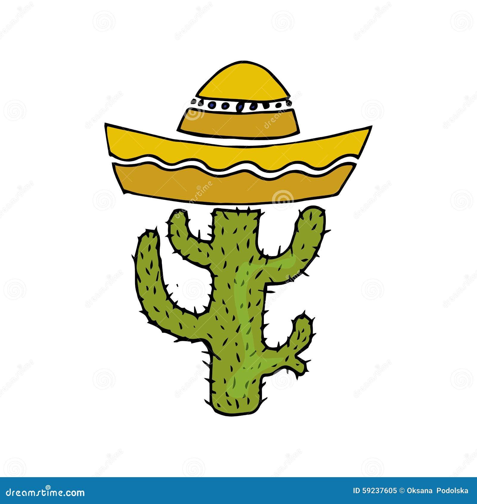 Download Ejemplo De México Cactus En Sombrero Amo Al Mexicano Ilustración del Vector - Ilustración de mexicano, marrón: 59237605