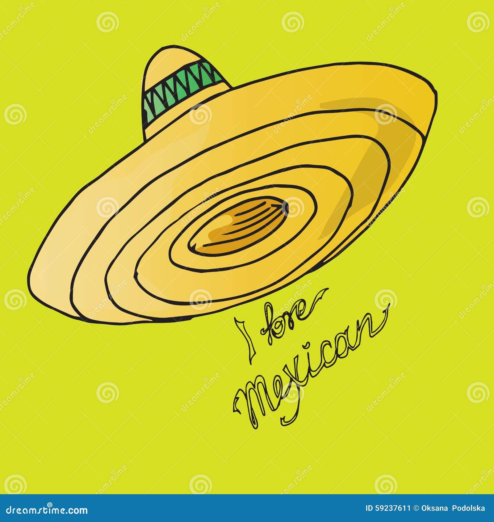 Download Ejemplo De México Sombrero Del Sombrero Amo Al Mexicano Ilustración del Vector - Ilustración de ilustración, diseño: 59237611