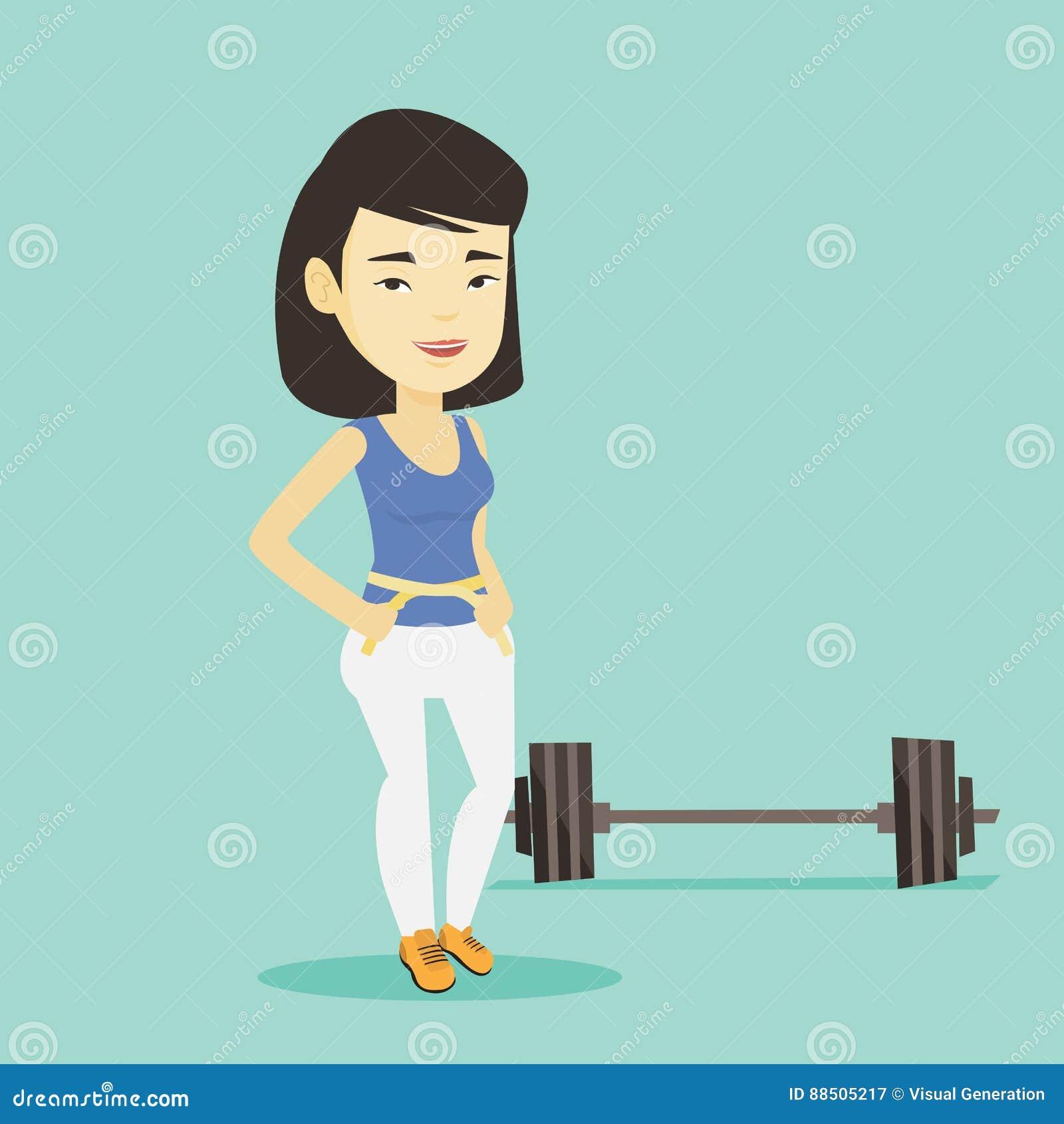 Ejemplo de medición del vector de la cintura de la mujer