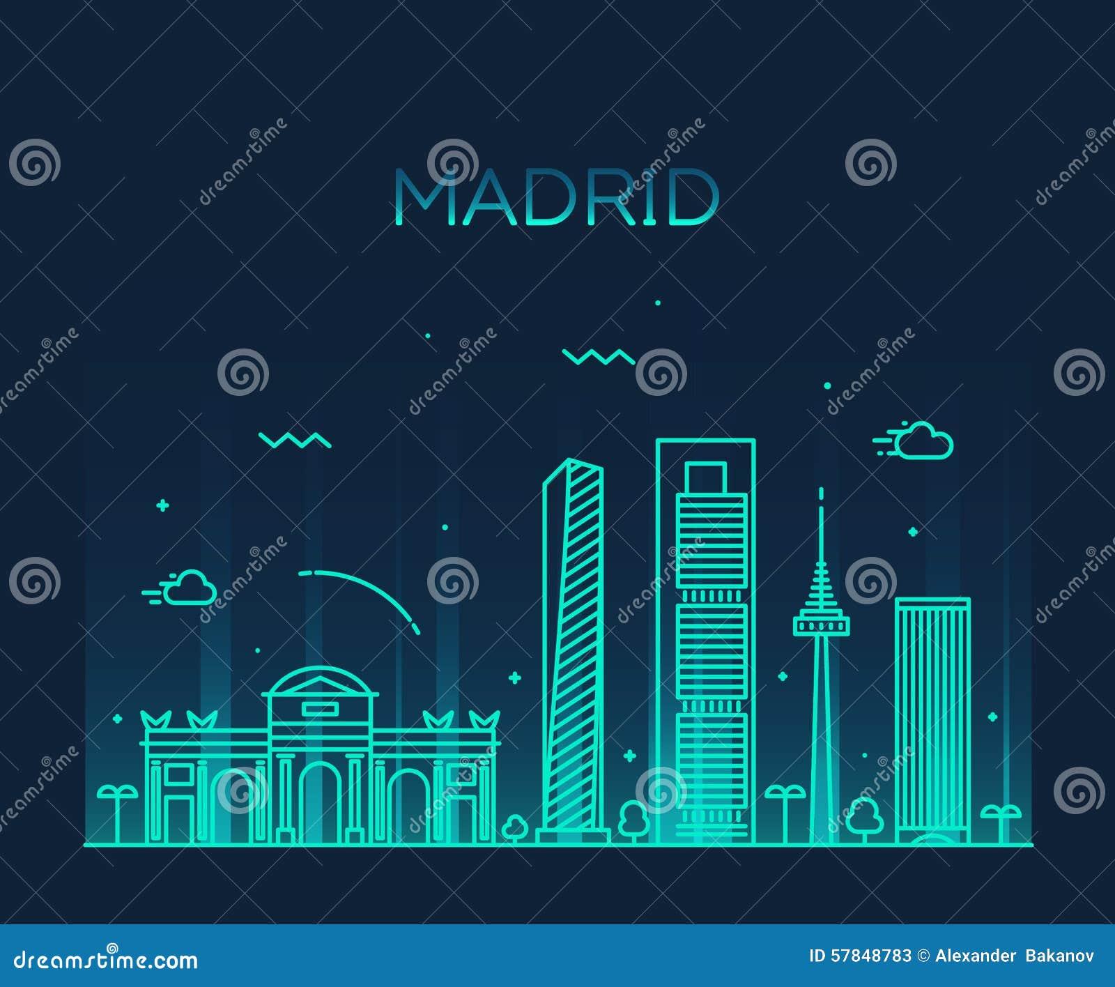 Ejemplo de moda del vector del horizonte de Madrid linear