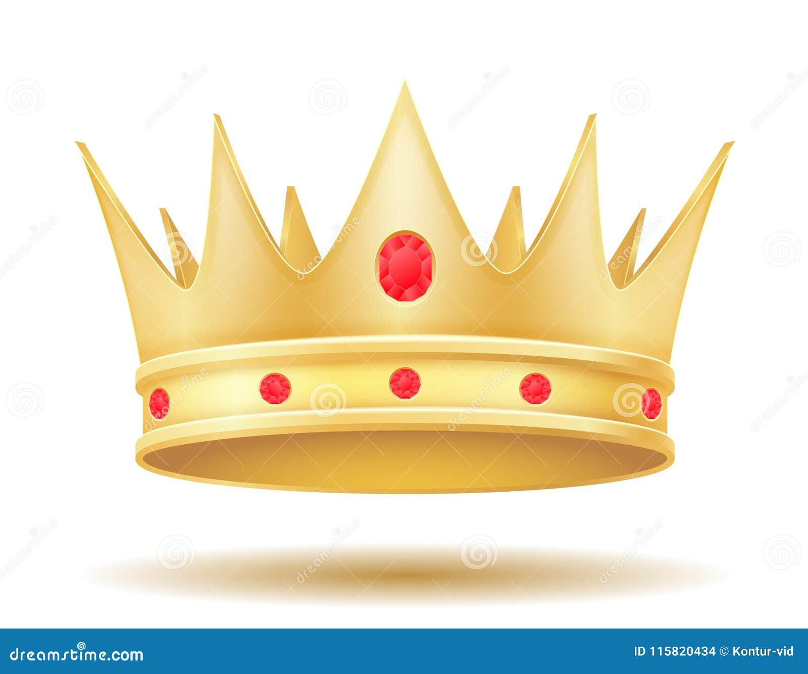 Ejemplo De Oro Real Del Vector De La Corona Del Rey Ilustración Del
