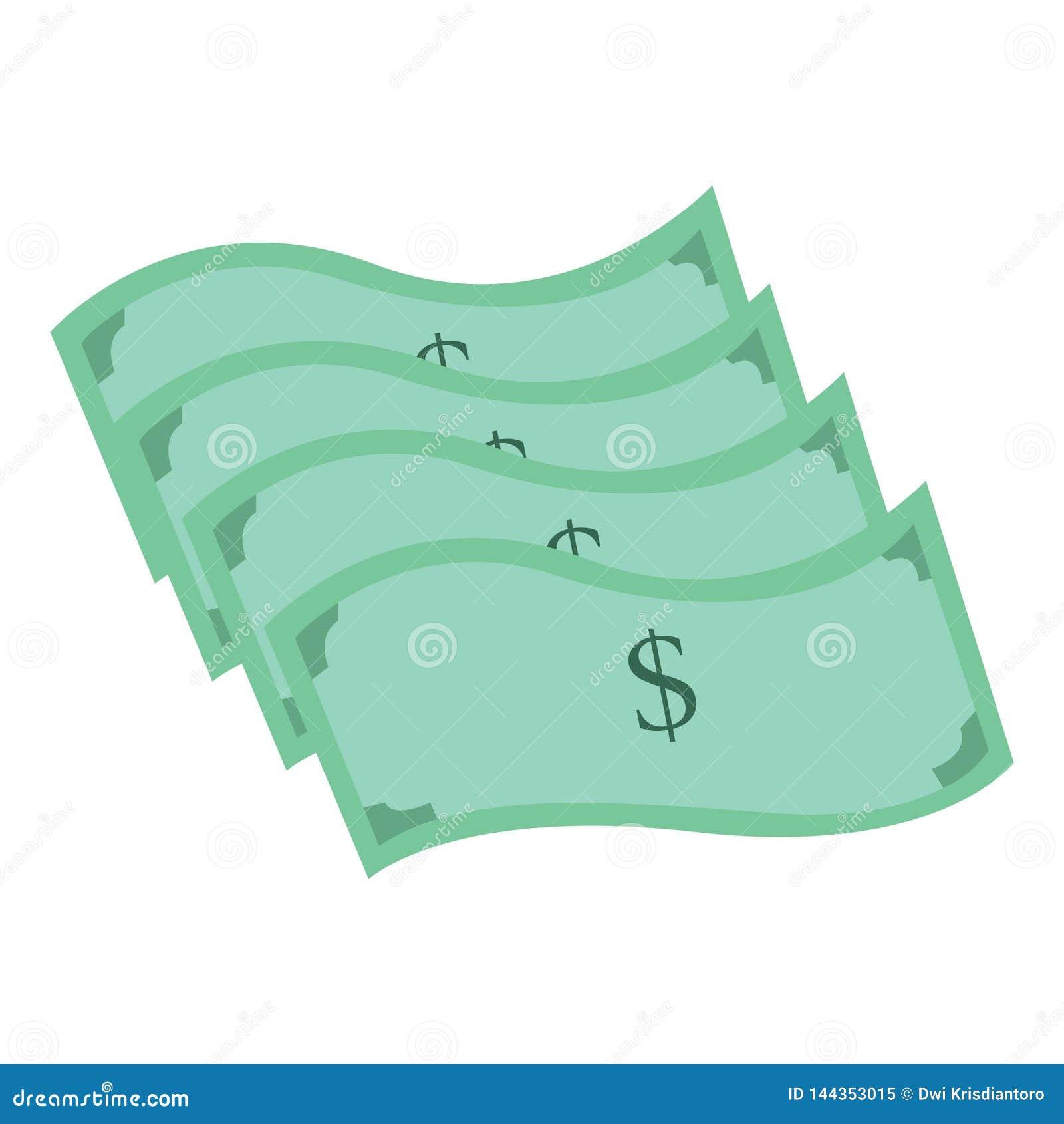 Ejemplo de una pila de dólares Ejemplo del dólar