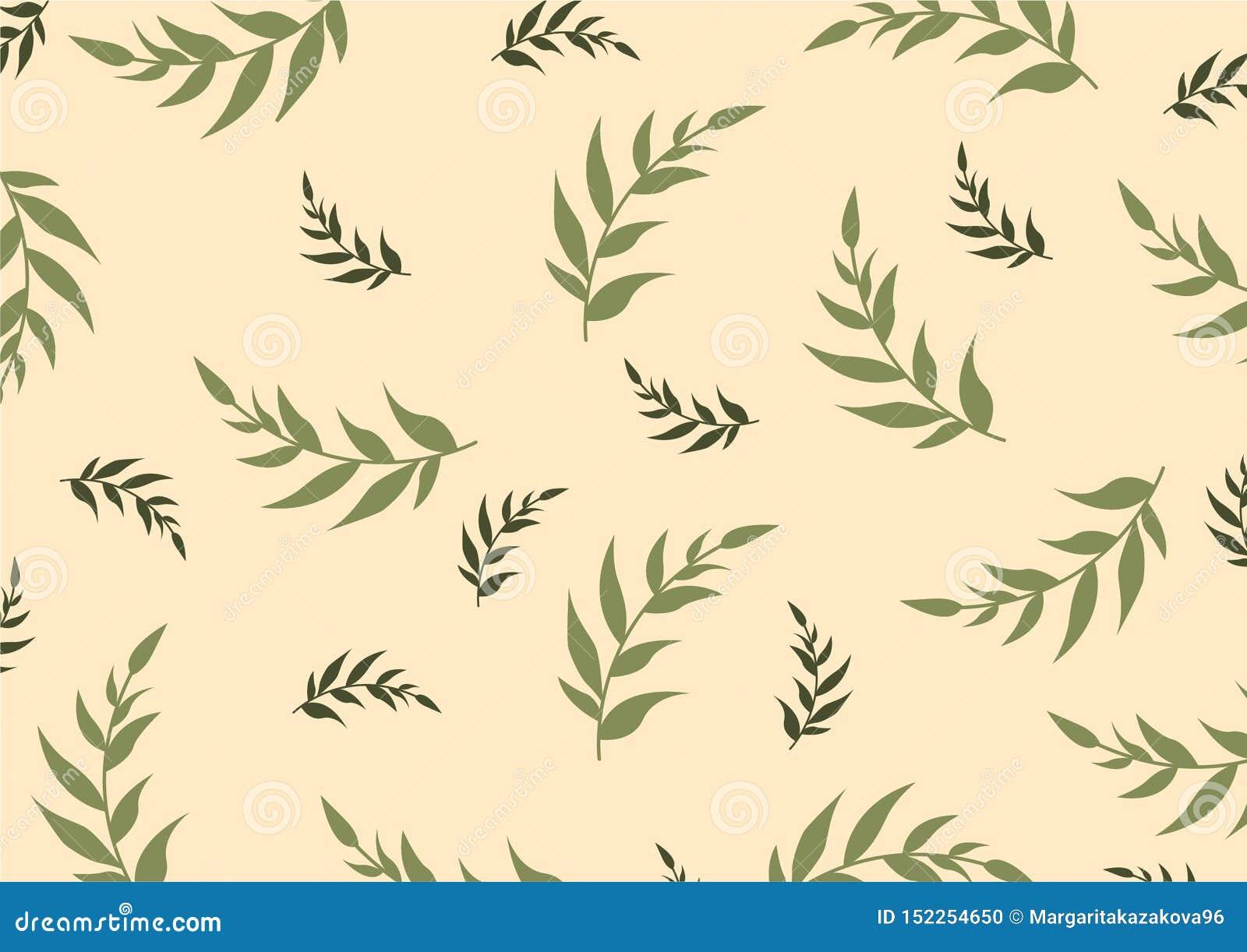 Ejemplo decorativo botánico del vector