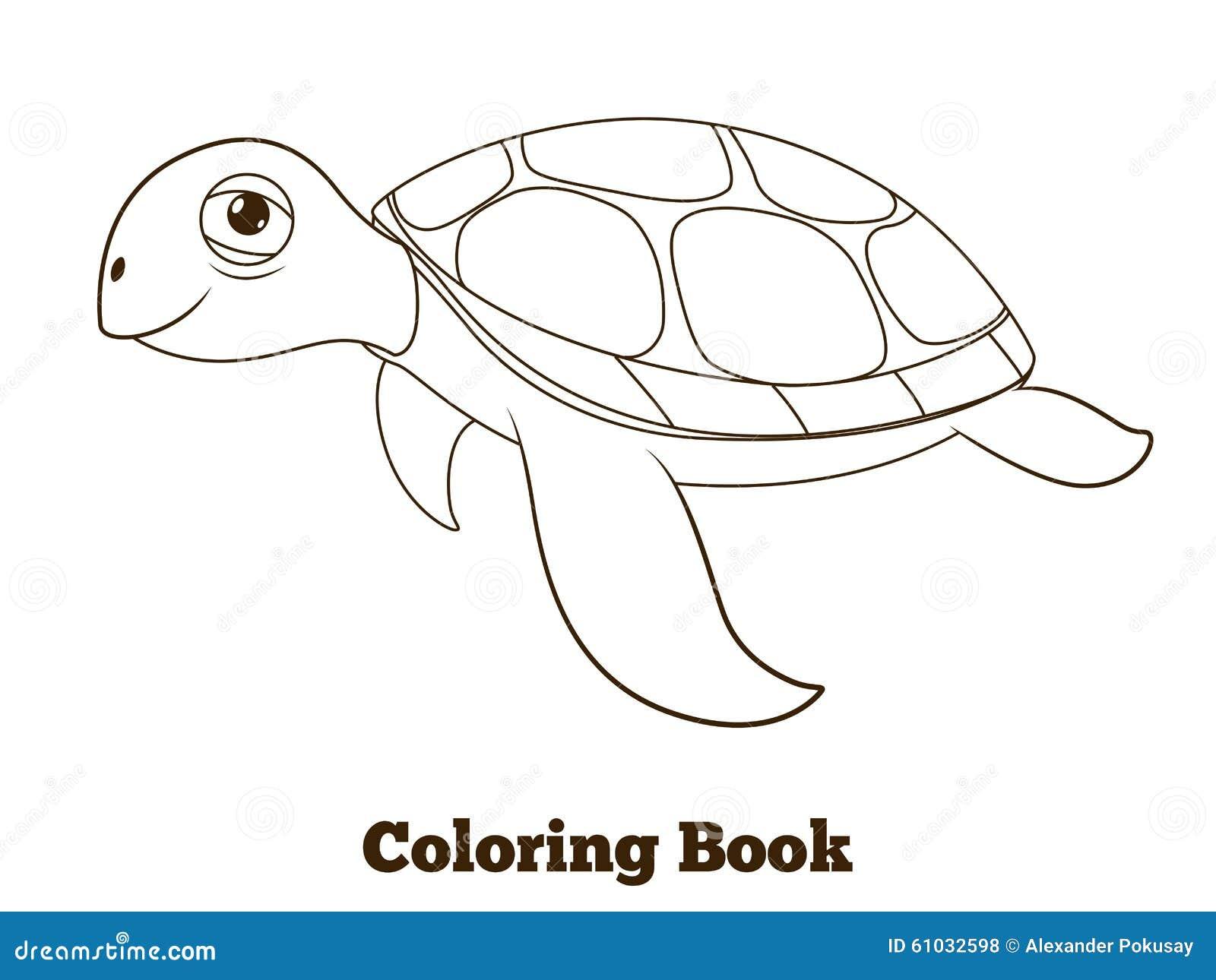 Ejemplo Del Animal De Mar De La Tortuga Del Libro De Colorear