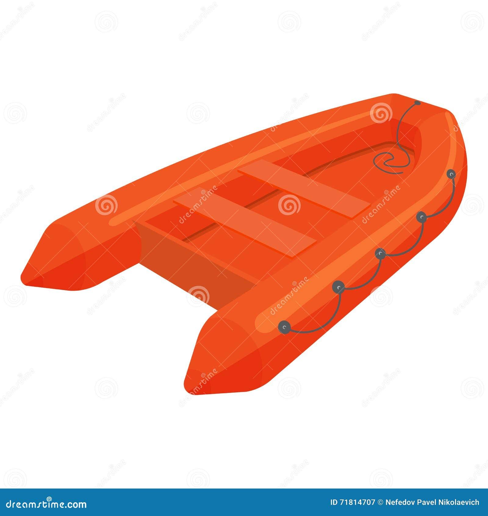 Ejemplo del bote de salvamento aislado en el fondo blanco