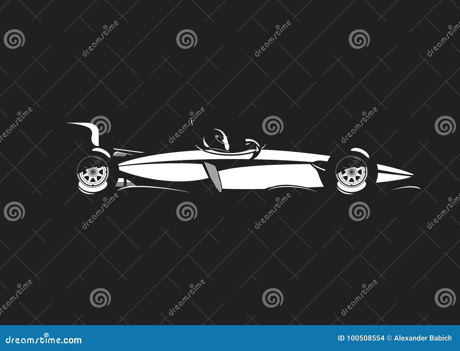 Ejemplo del coche de fórmula