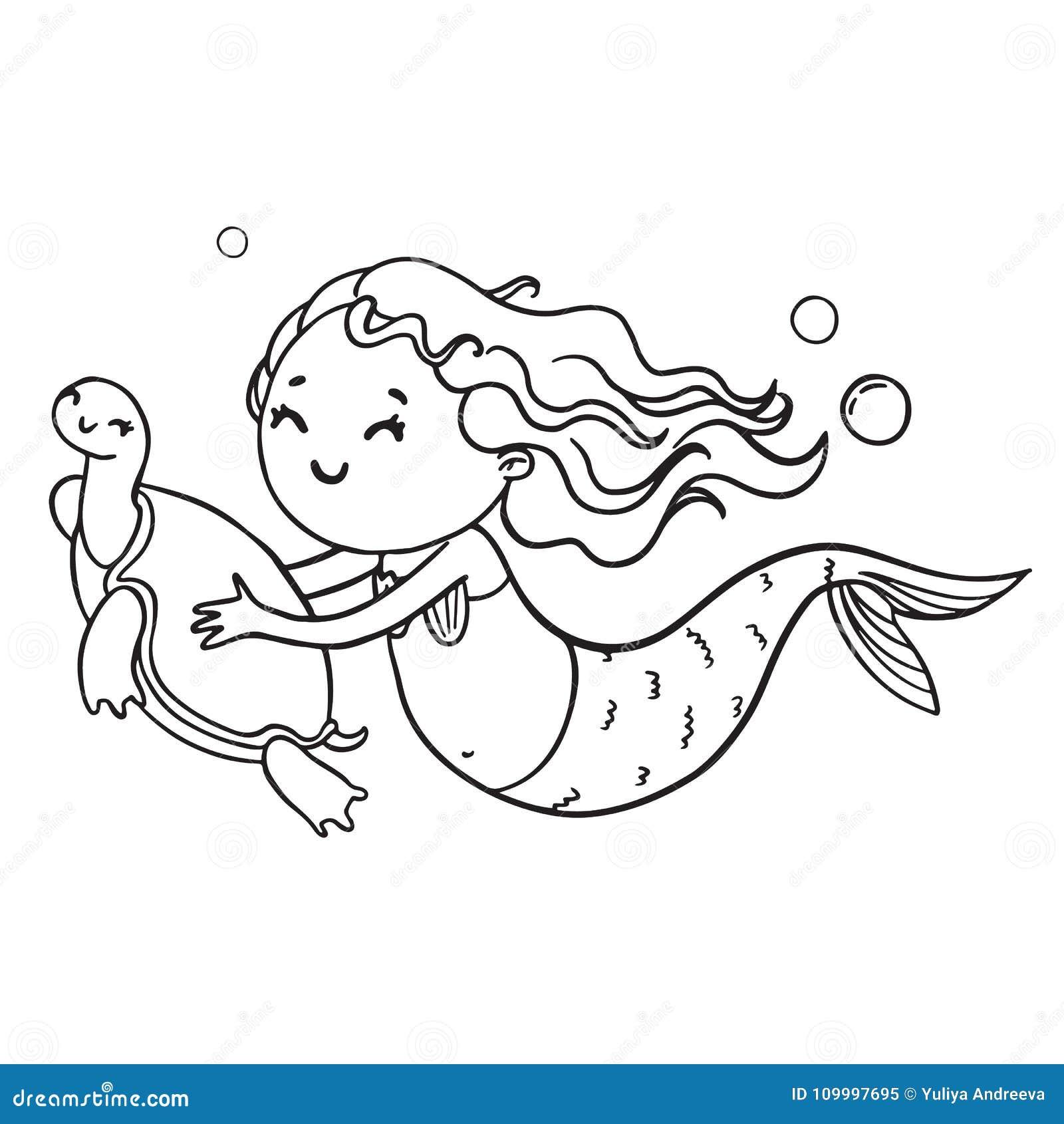 Lujoso Sirena Y Delfines Para Colorear Composición - Dibujos Para ...