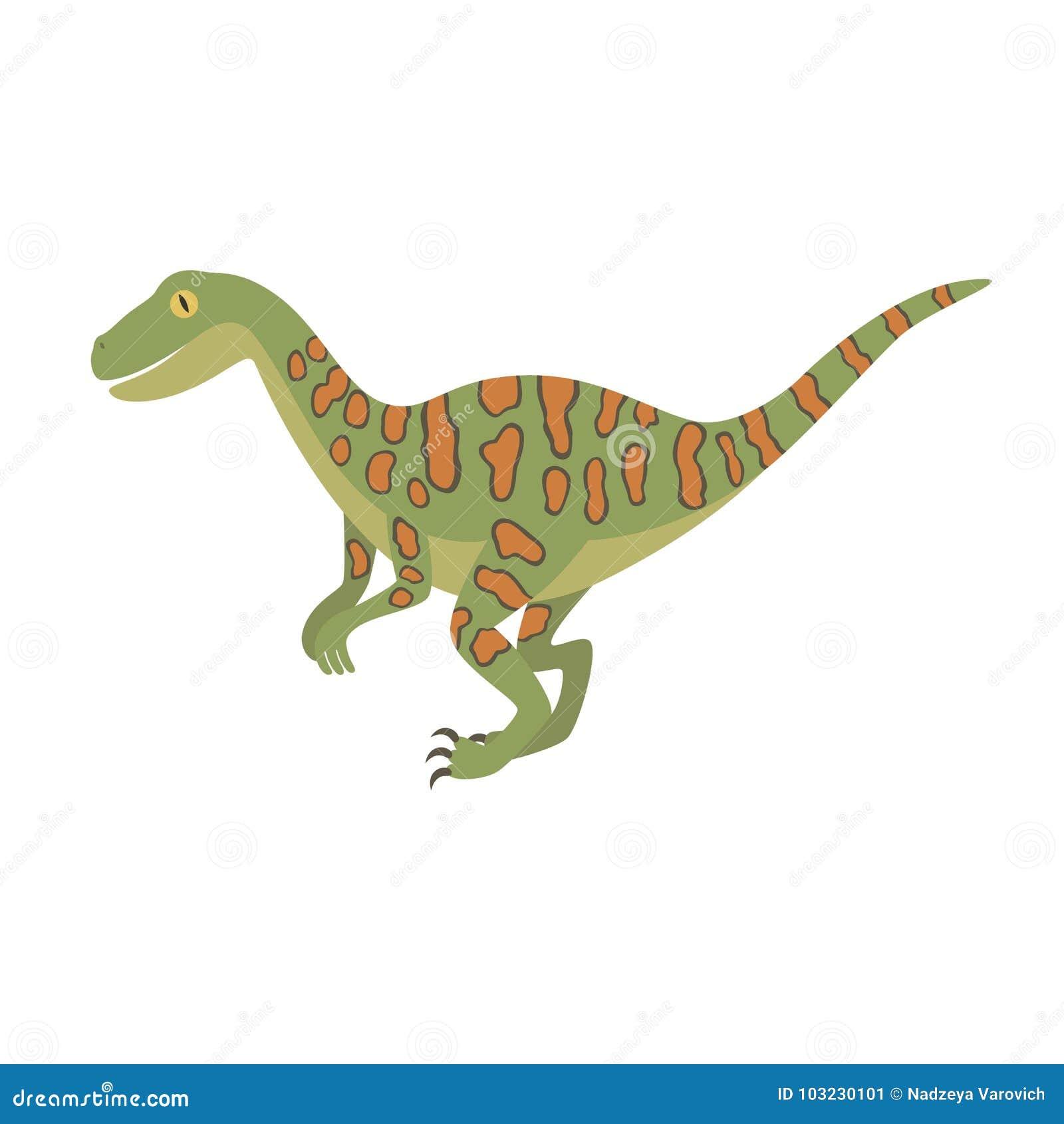 Ejemplo Del Diseño De Dino Del Color Del Dinosaurio De Deinonychus ...