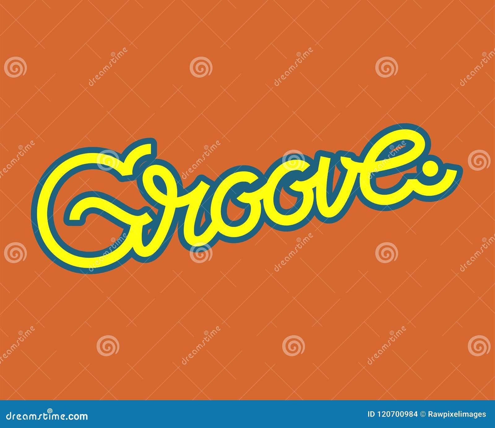 Ejemplo del diseño de la tipografía de la palabra del surco