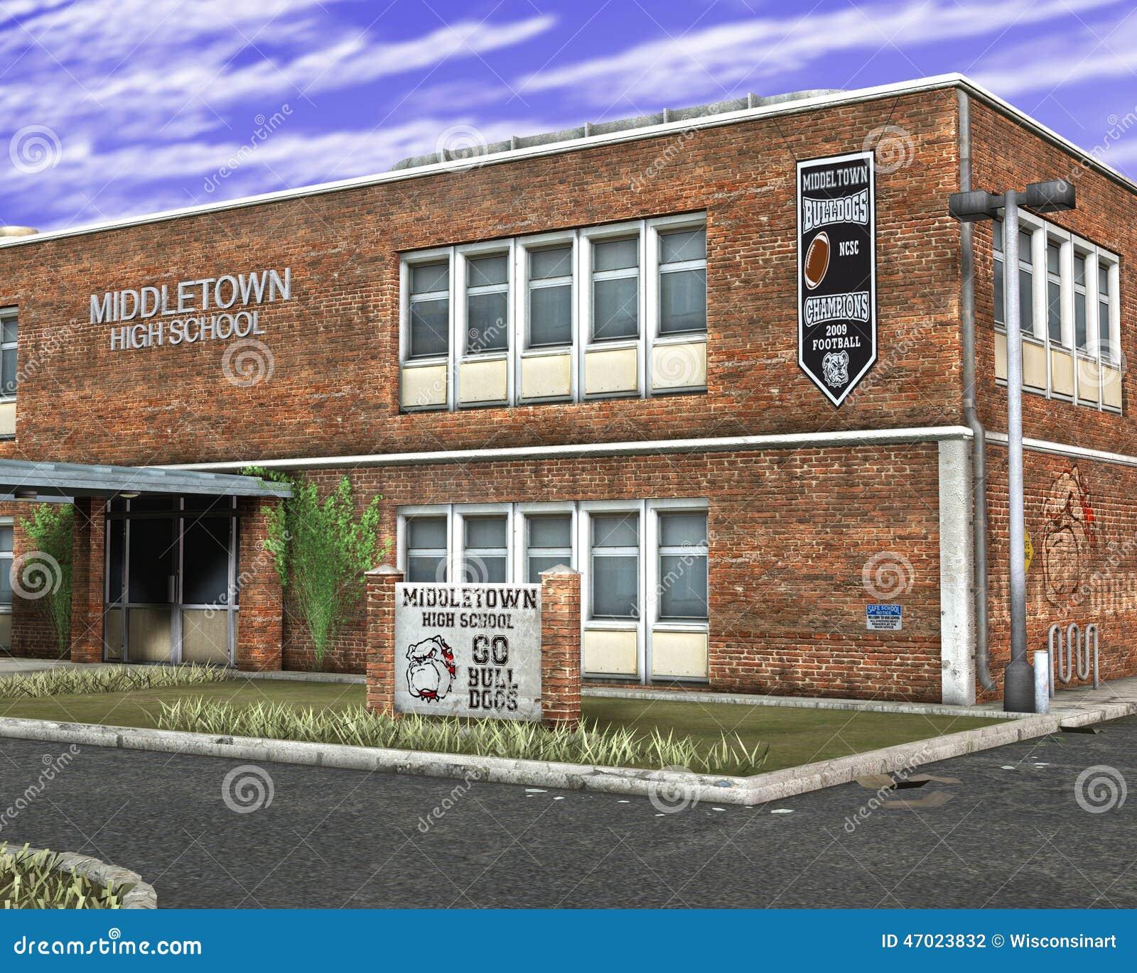Ejemplo del edificio de la High School secundaria