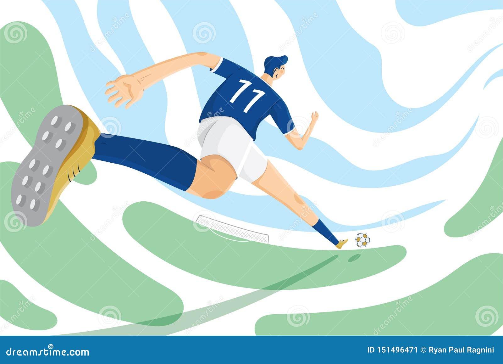 Ejemplo del entrenamiento técnico del deporte del fútbol