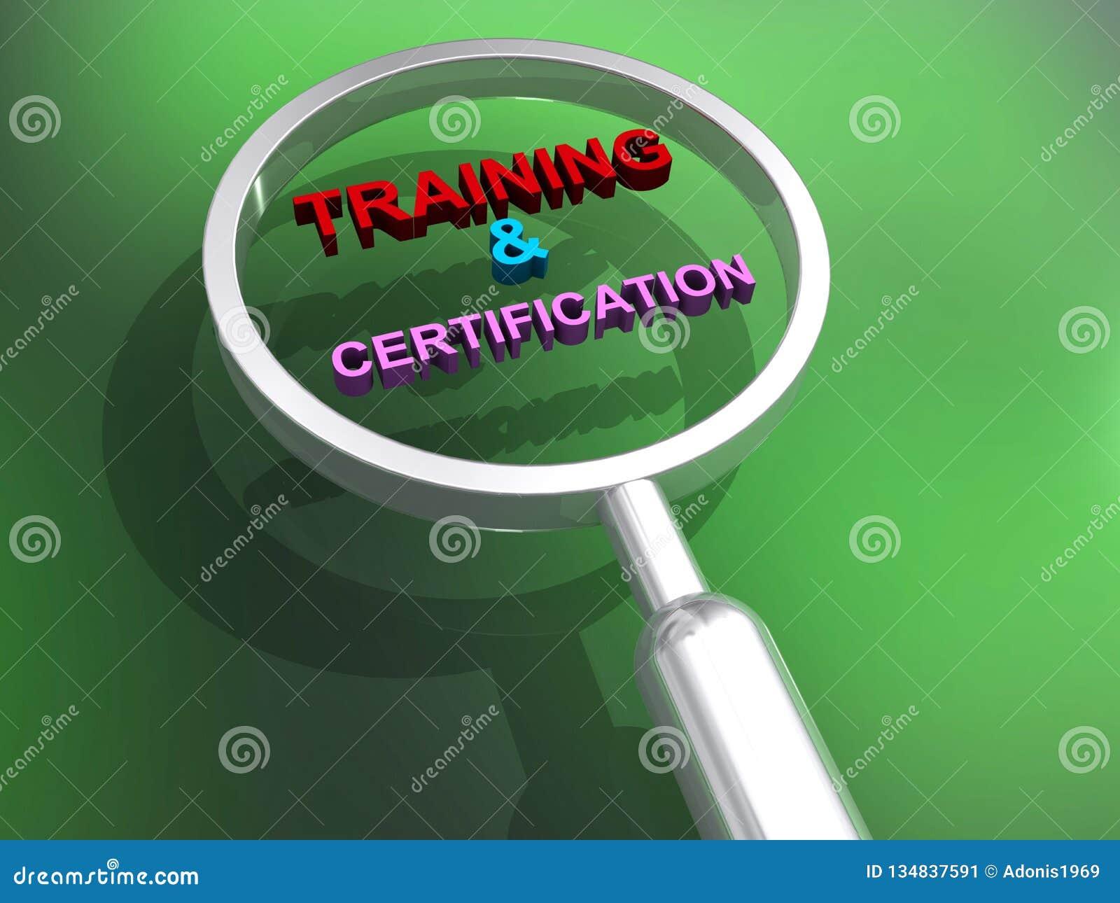 Ejemplo del entrenamiento y de la certificación