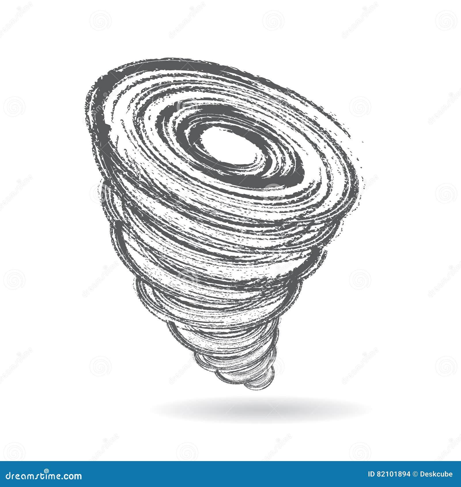 Ejemplo Del Gráfico Del Tornado O Del Tornado Ilustración del Vector ...