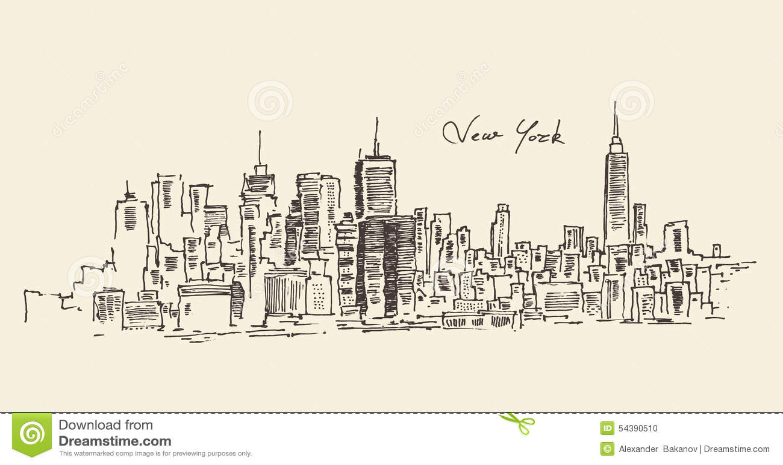 Ejemplo del grabado de New York City