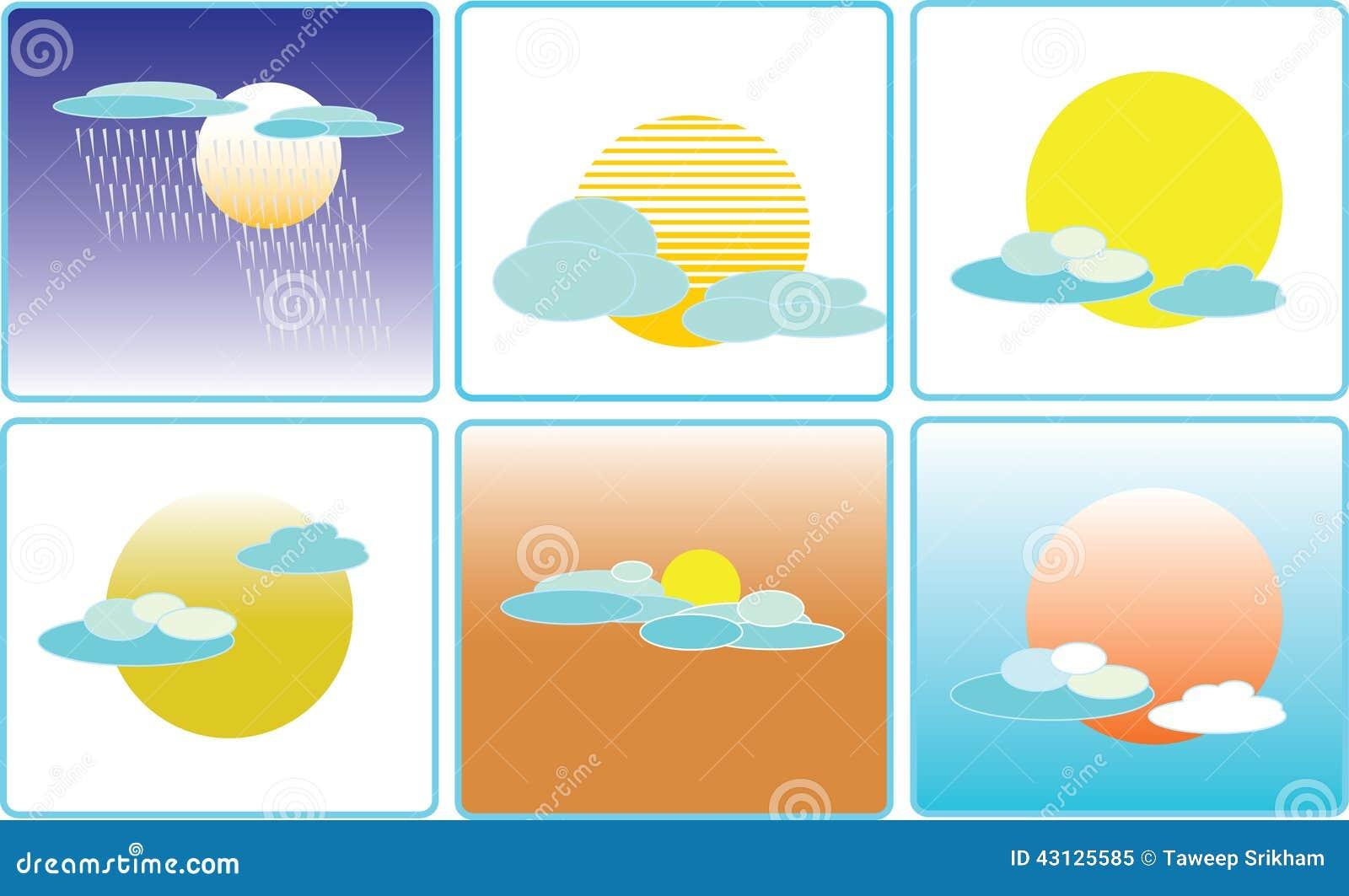 Ejemplo del icono del clima del tiempo de la nube y del - Tiempo en paracuellos del jarama ...