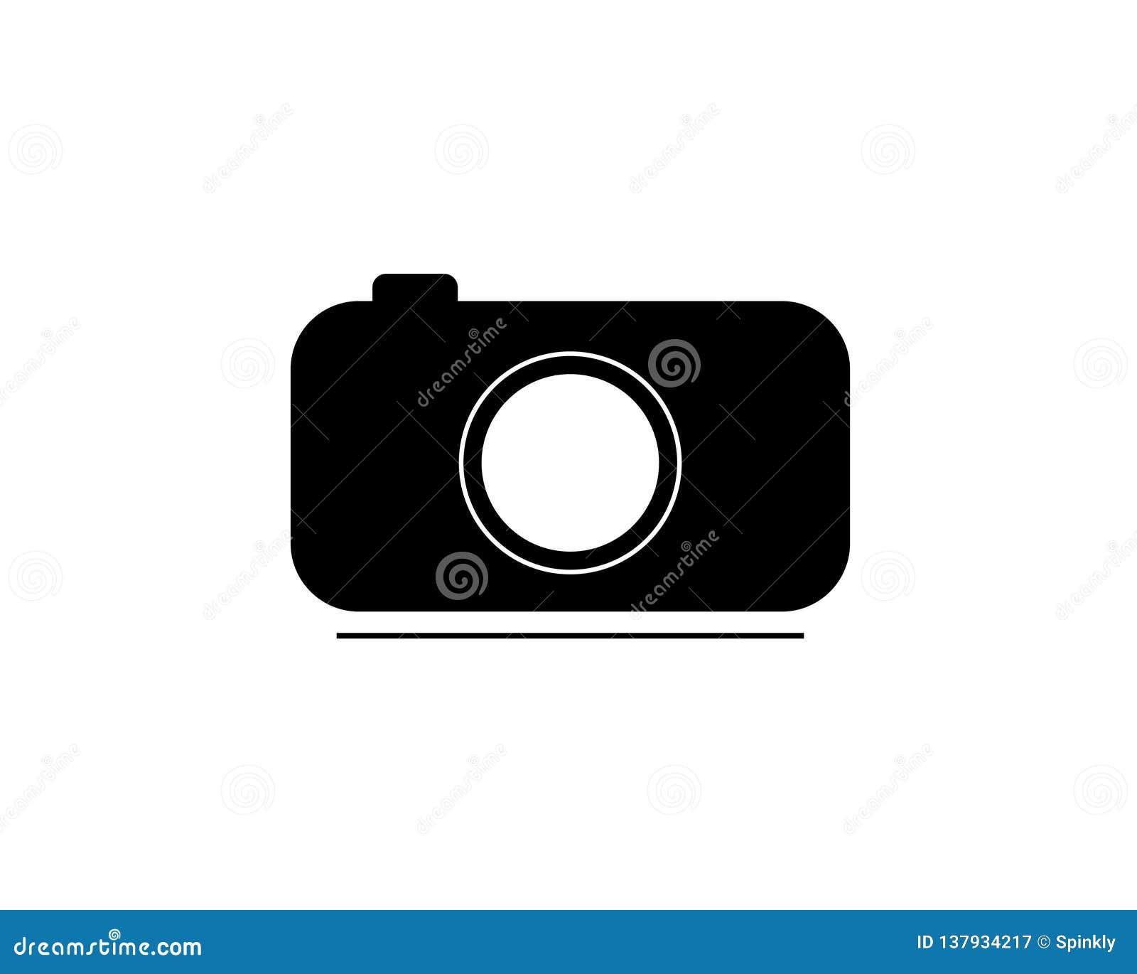 Ejemplo del icono o del vector de la cámara