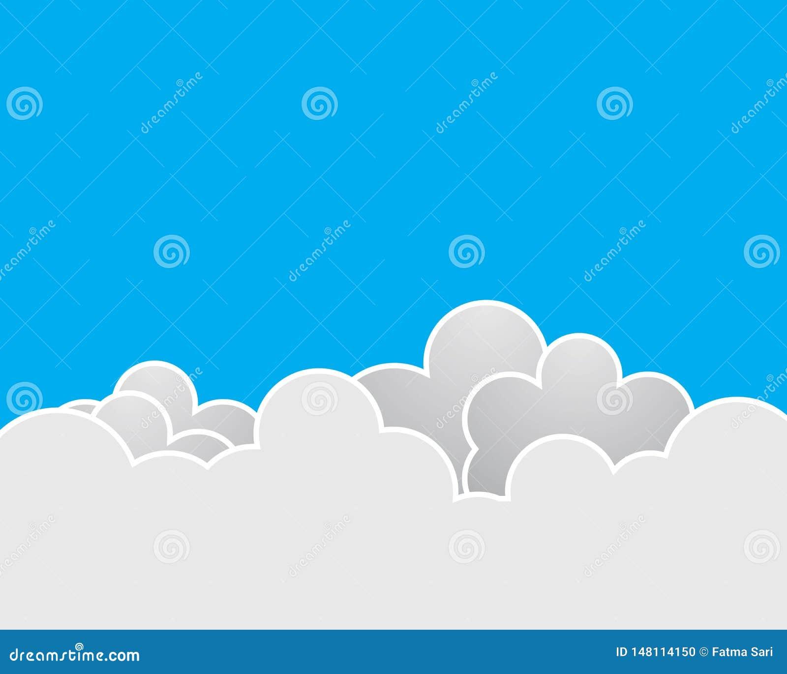 Ejemplo del icono del vector de la nube
