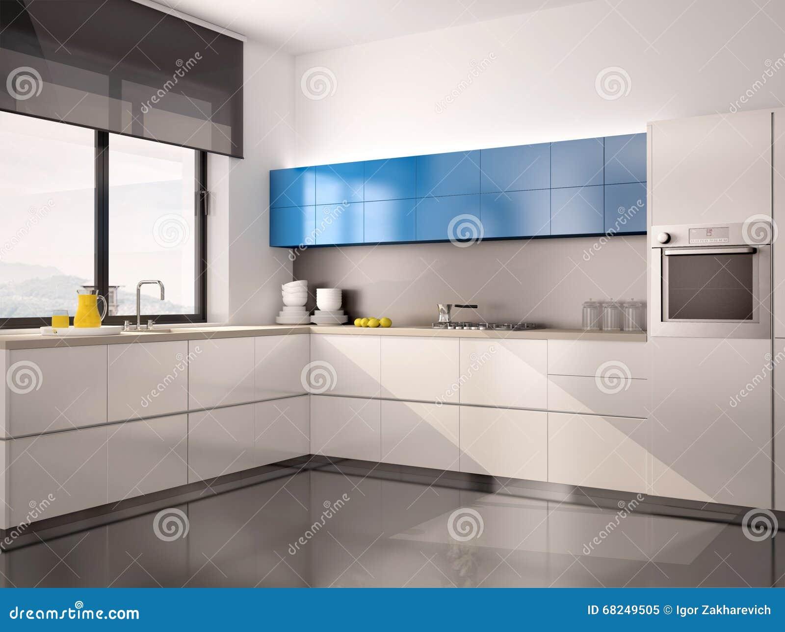 Cocinas Modernas Blancas Y Grises Fabulous Cocina En Blanco Y  ~ Cocinas Modernas Blancas Y Grises