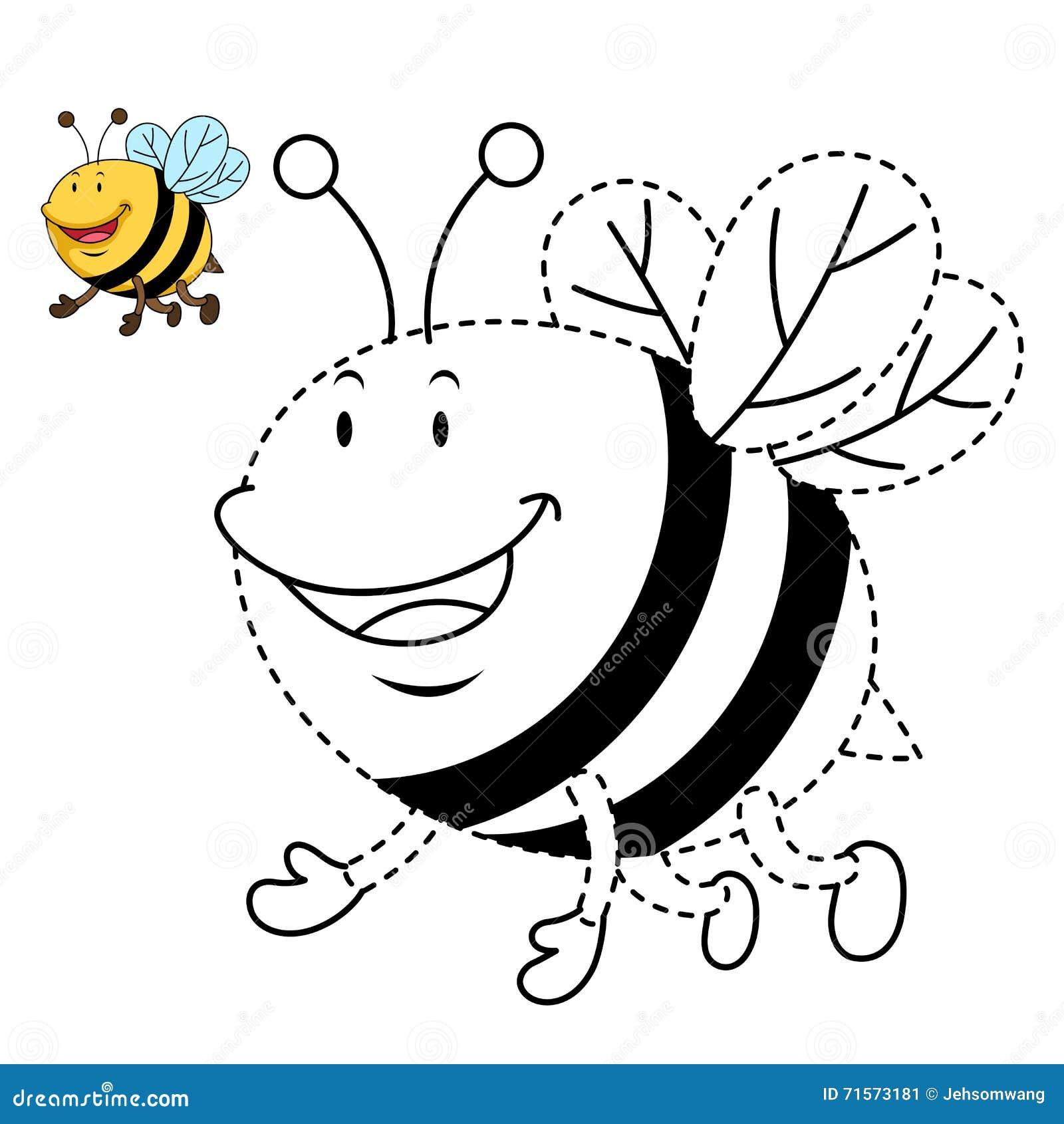 Ejemplo Del Juego Educativo Para Los Niños Y La Libro-abeja Del ...