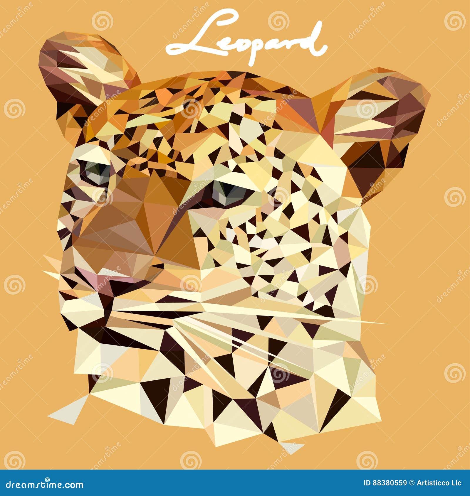 Ejemplo del leopardo en estilo del mosaico