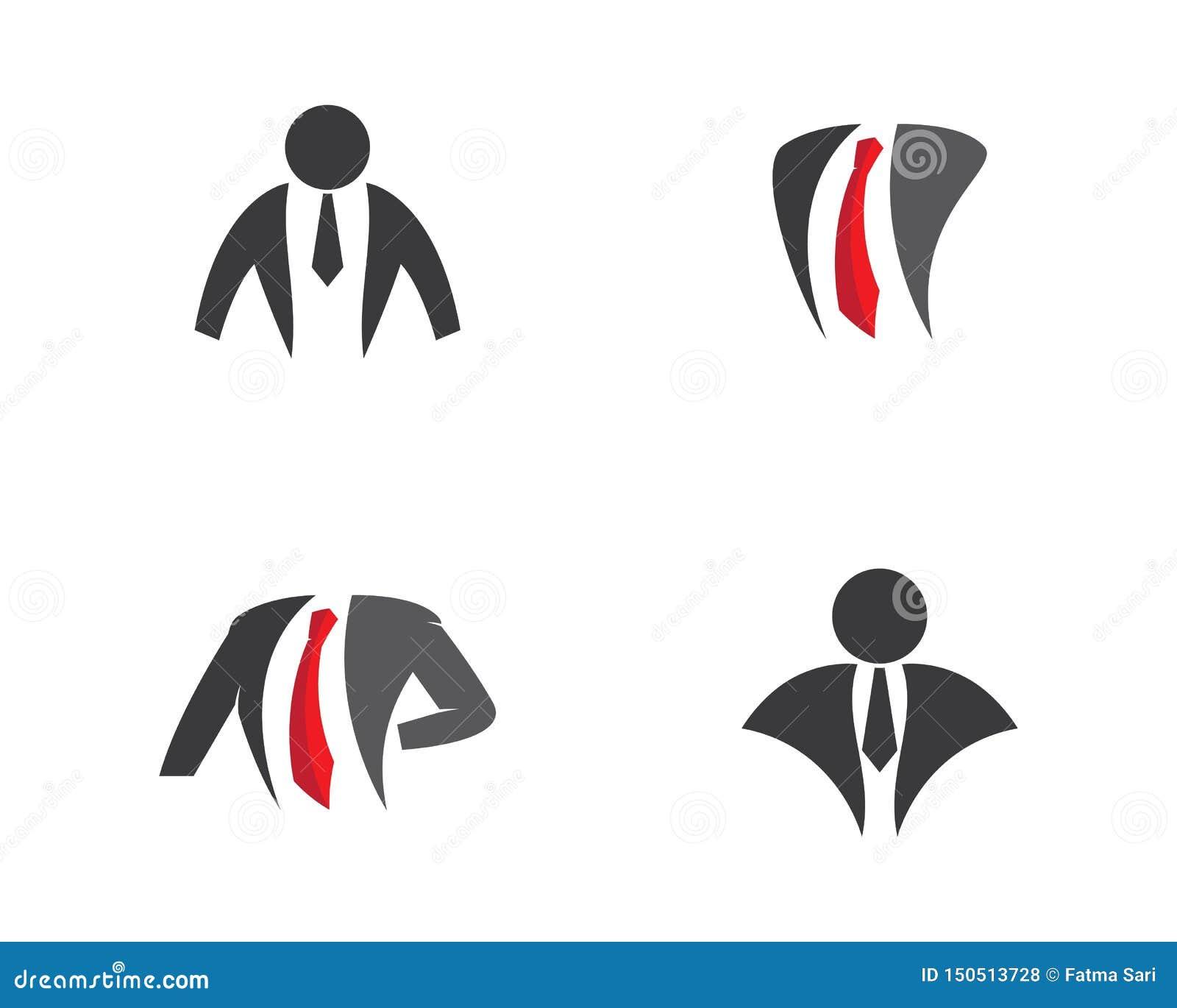 Ejemplo del logotipo del hombre de negocios