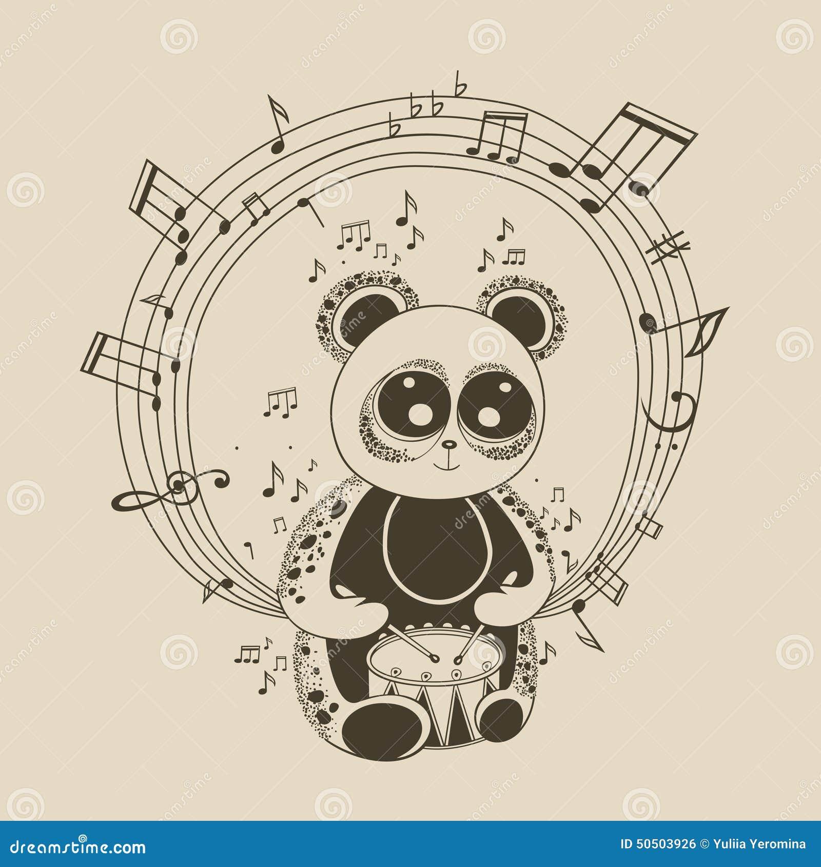 Ejemplo del músico de la panda