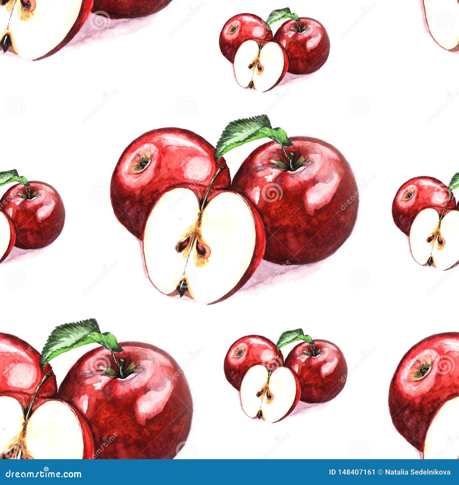 Ejemplo del modelo de las manzanas de la acuarela