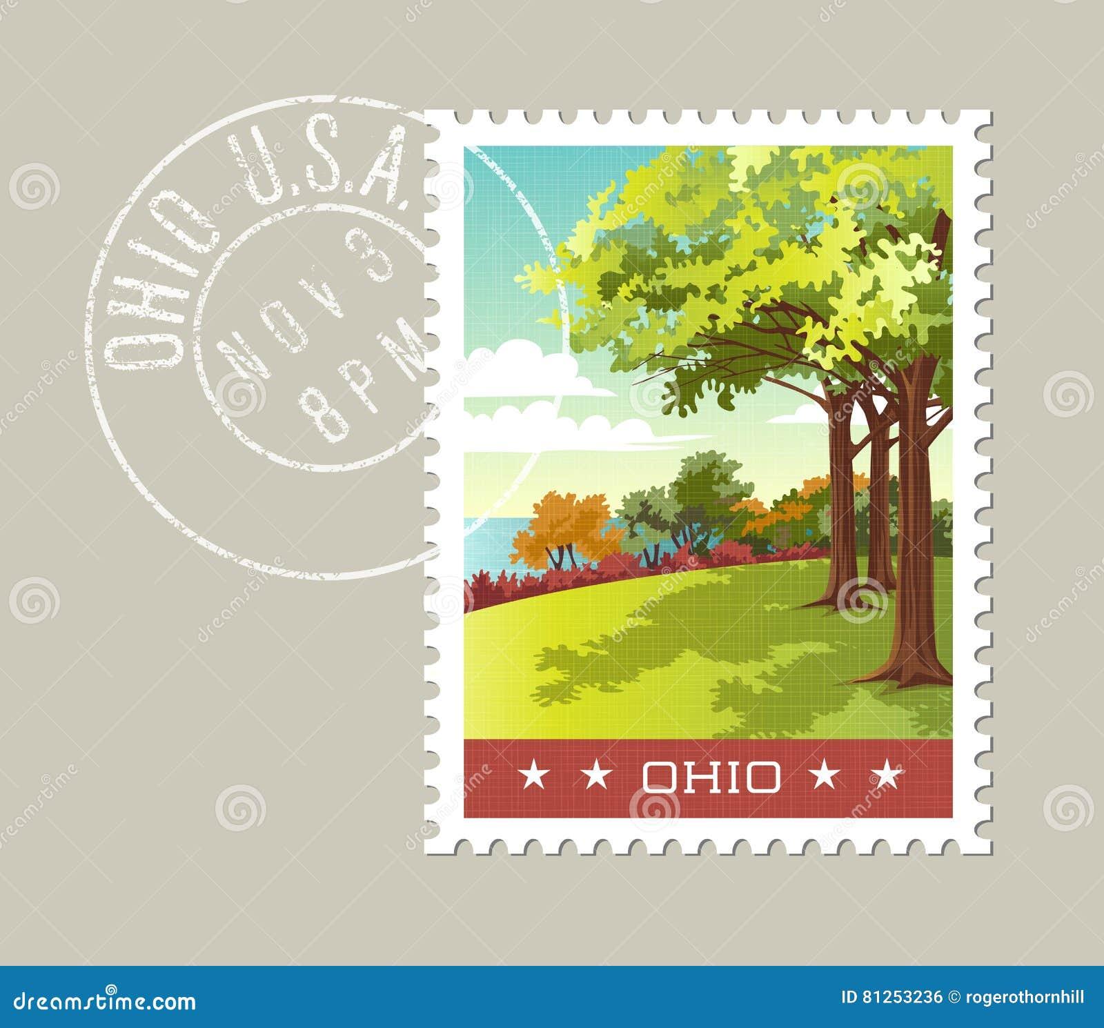 Ejemplo del parque que pasa por alto el lago Erie, Ohio