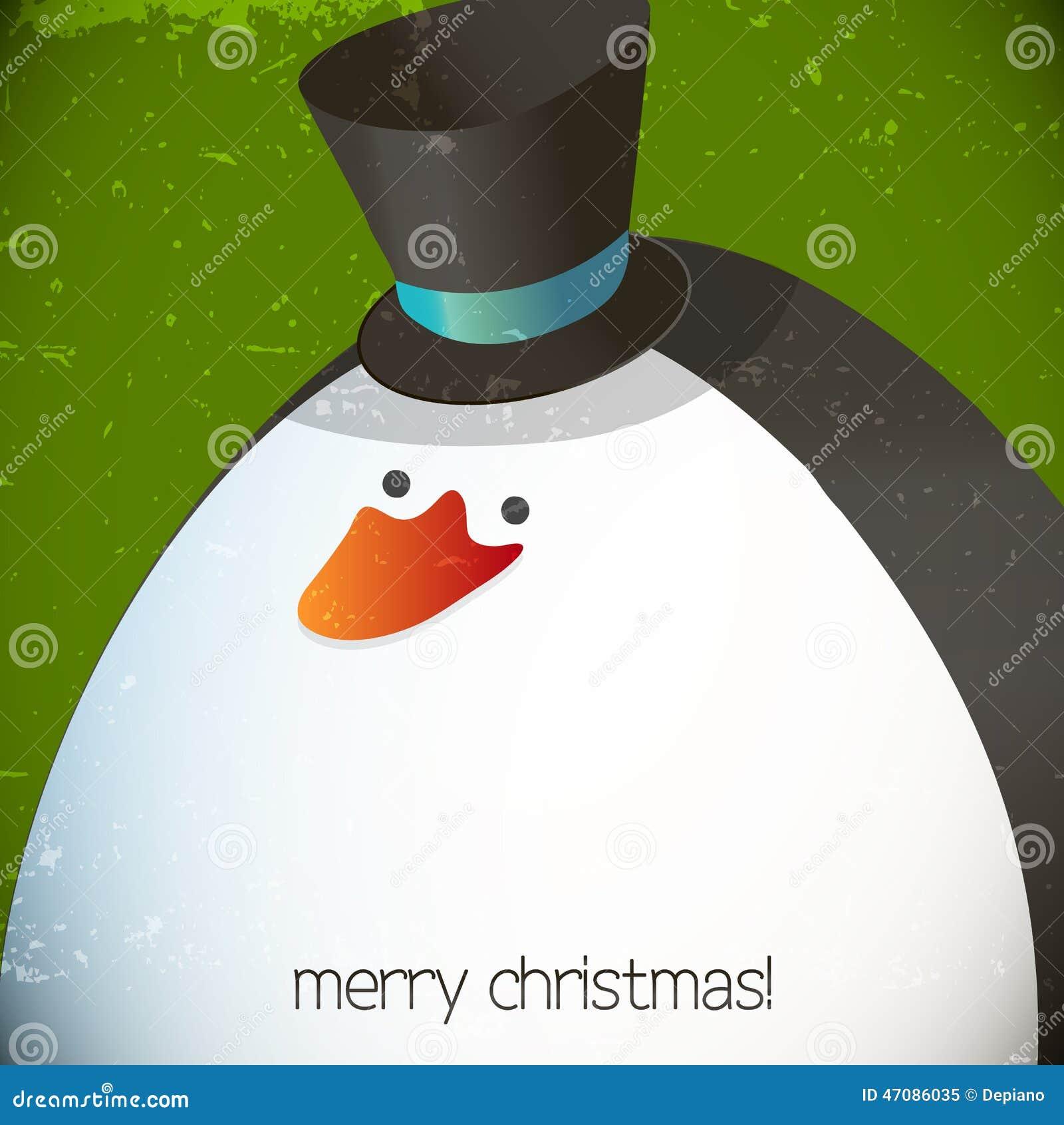 Ejemplo del pingüino de la Navidad