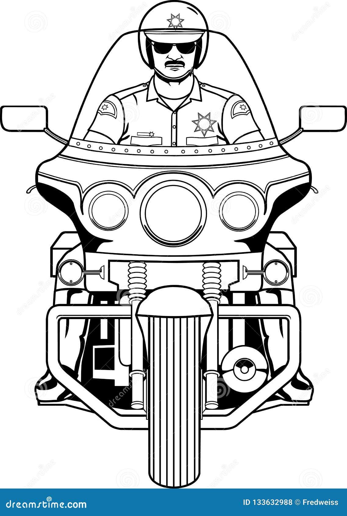 Ejemplo del poli de motocicleta