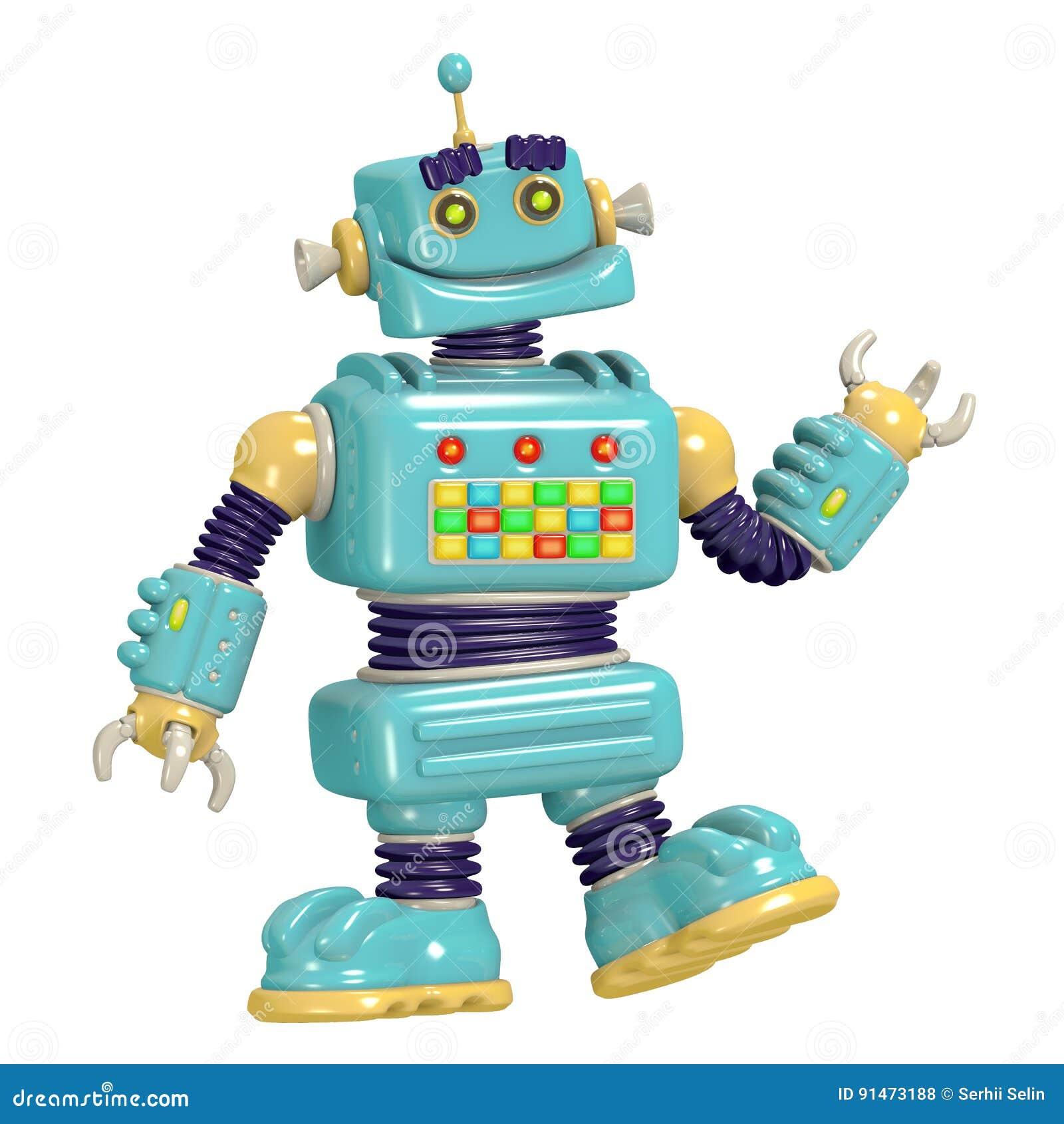 Ejemplo del robot 3D de la historieta