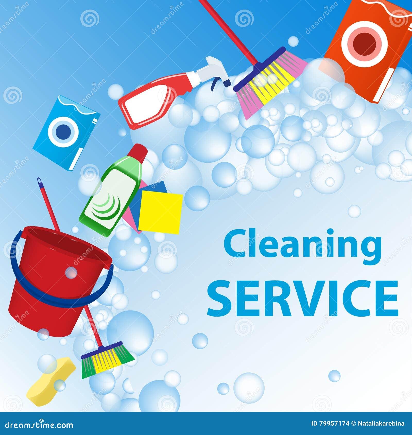 Ejemplo del servicio de la limpieza plantilla del cartel - Imagenes de limpieza de casas ...