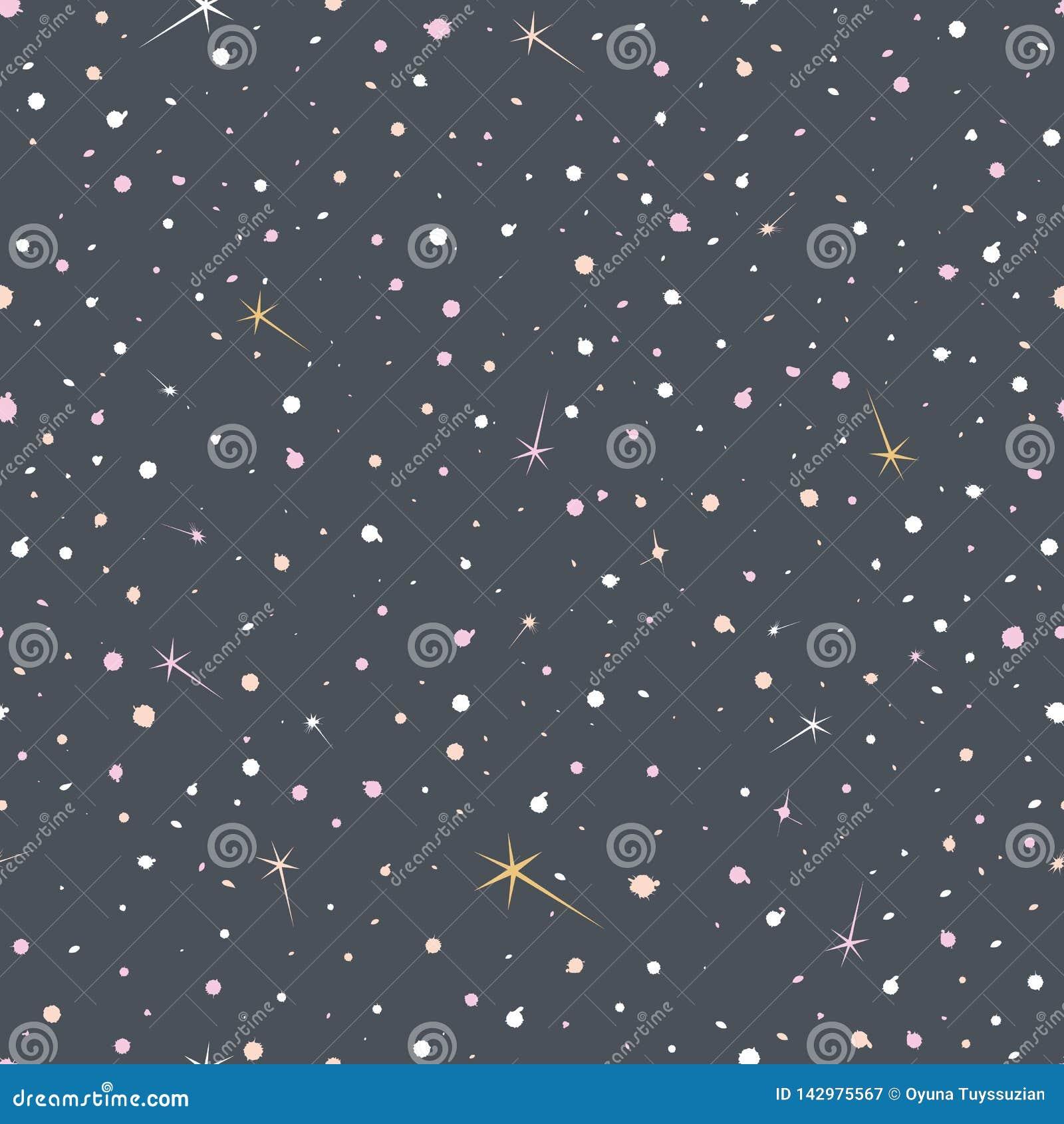 Ejemplo del vector del crepúsculo lunar hermoso con las estrellas que brillan intensamente coloridas