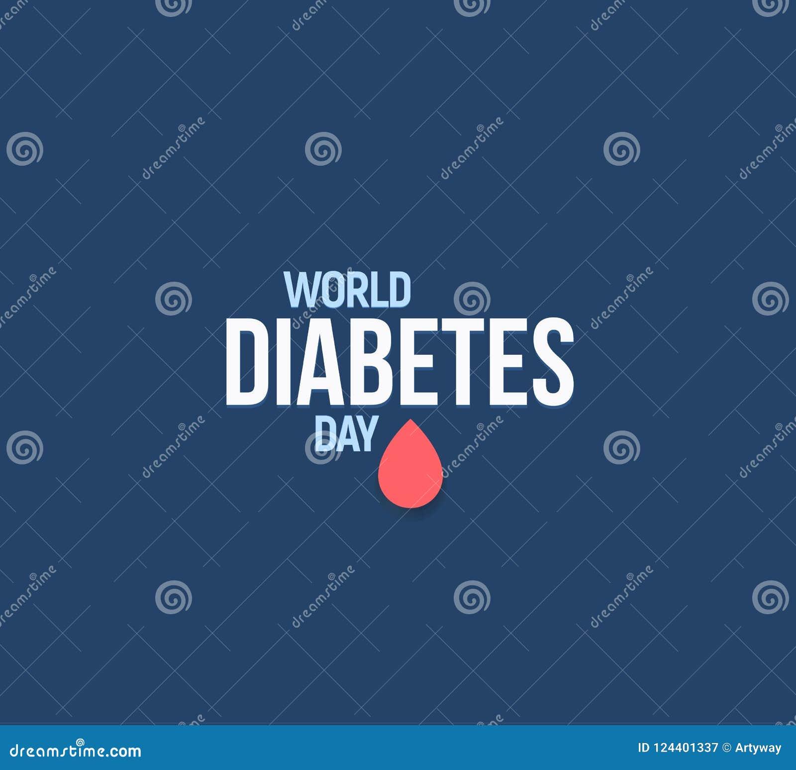 logotipo del día mundial de la diabetes 2020 con negro