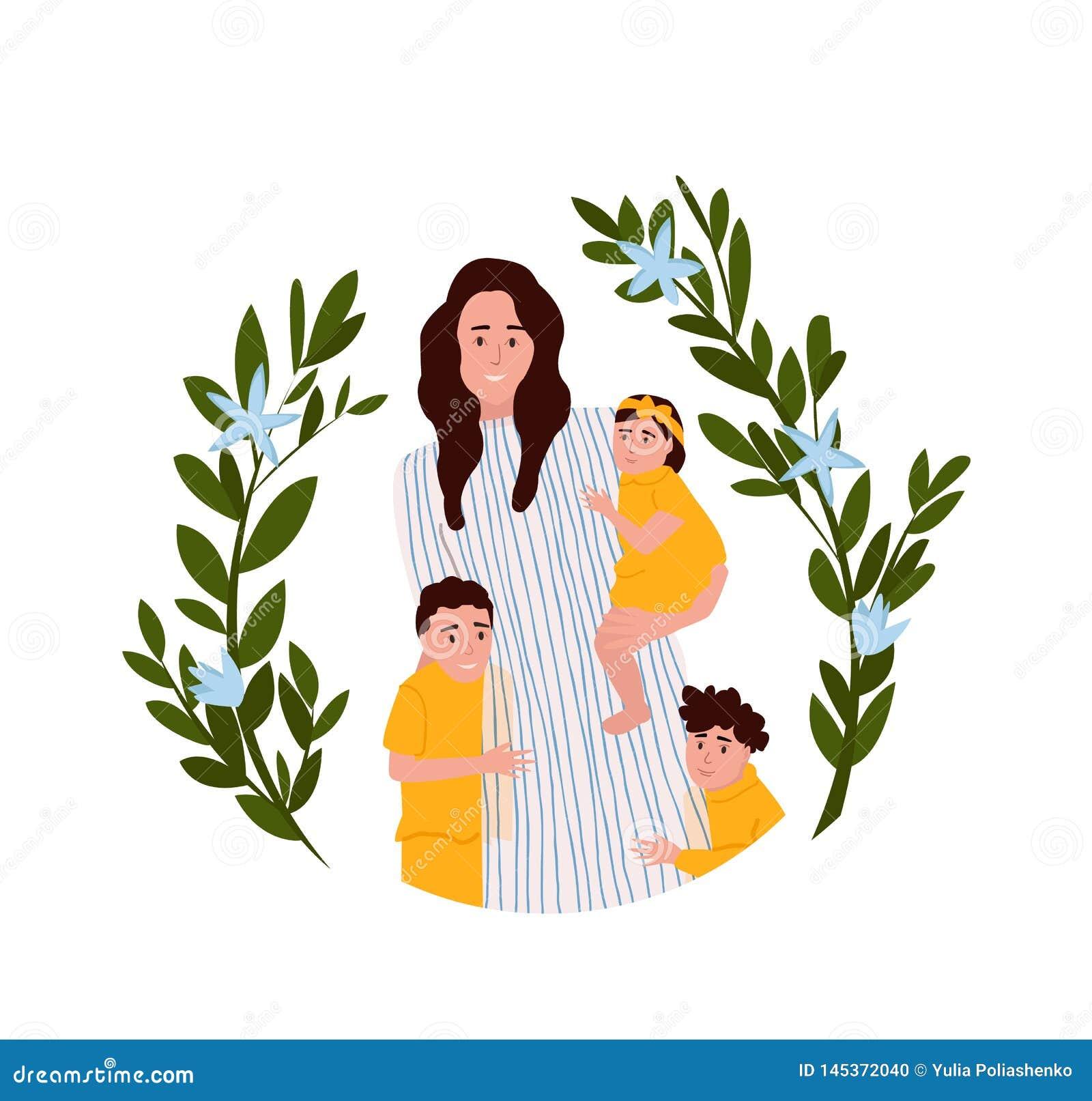 Ejemplo del vector del d?a de madres