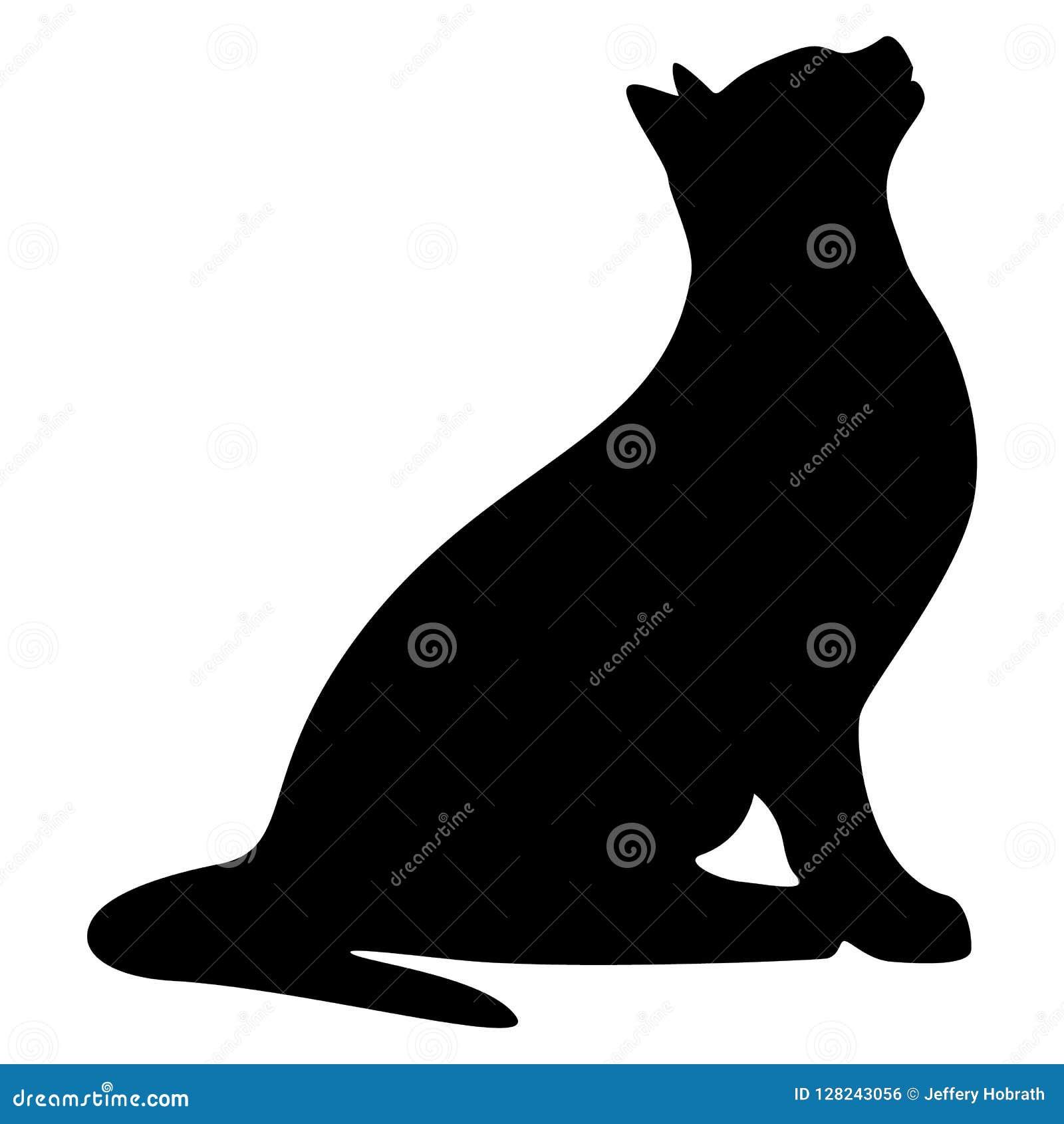 Ejemplo del vector de Cat Sitting Obedient Pet Silhouette