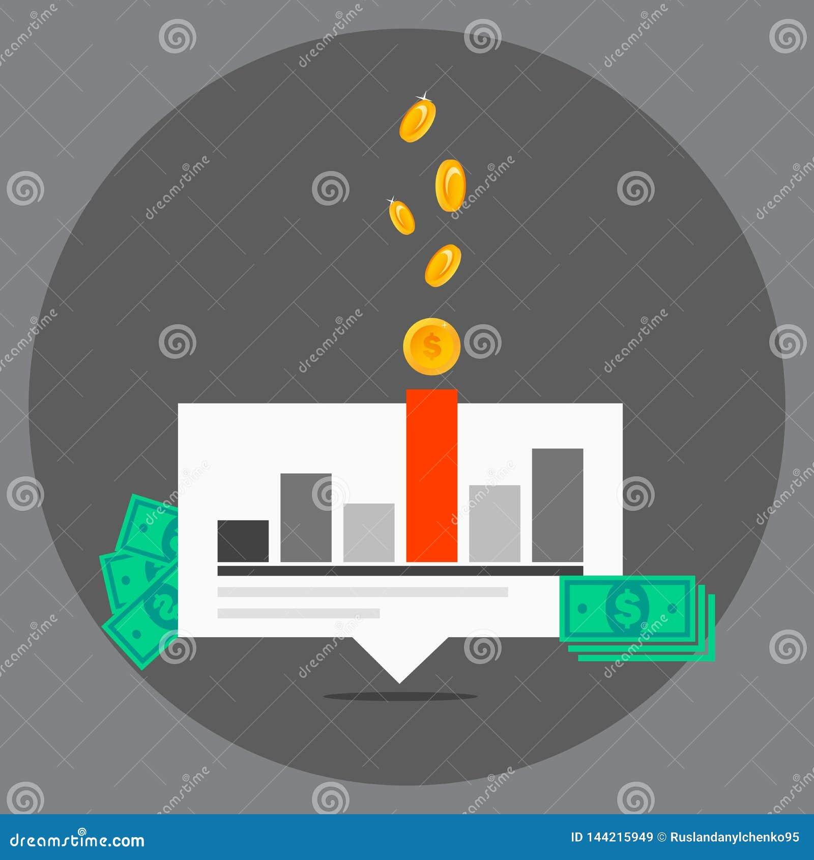 Ejemplo del vector de comercializar concepto de dise?o plano Concepto plano de las banderas del diseño de noticias del mercado de
