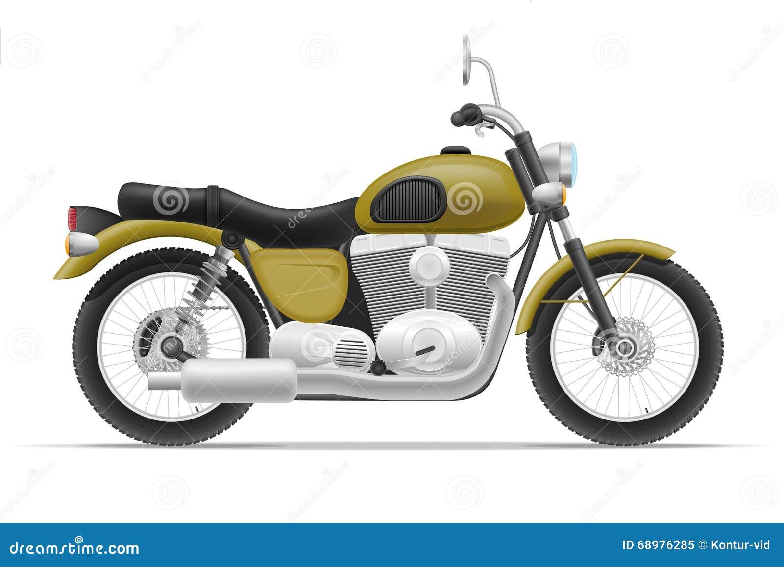 Ejemplo del vector de la motocicleta
