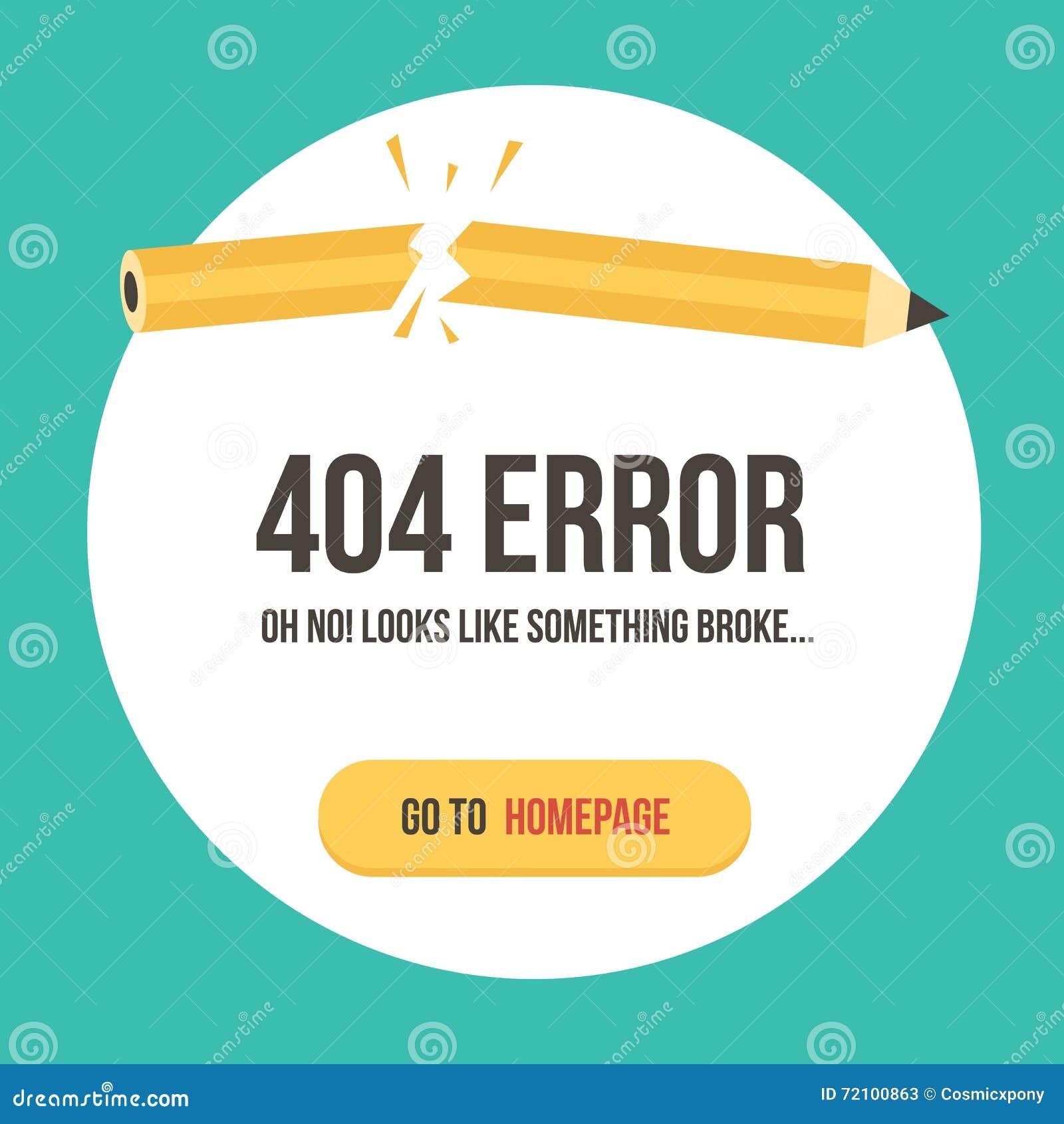 Ejemplo Del Vector De La Página Del Error Del Concepto 404 Plantilla ...
