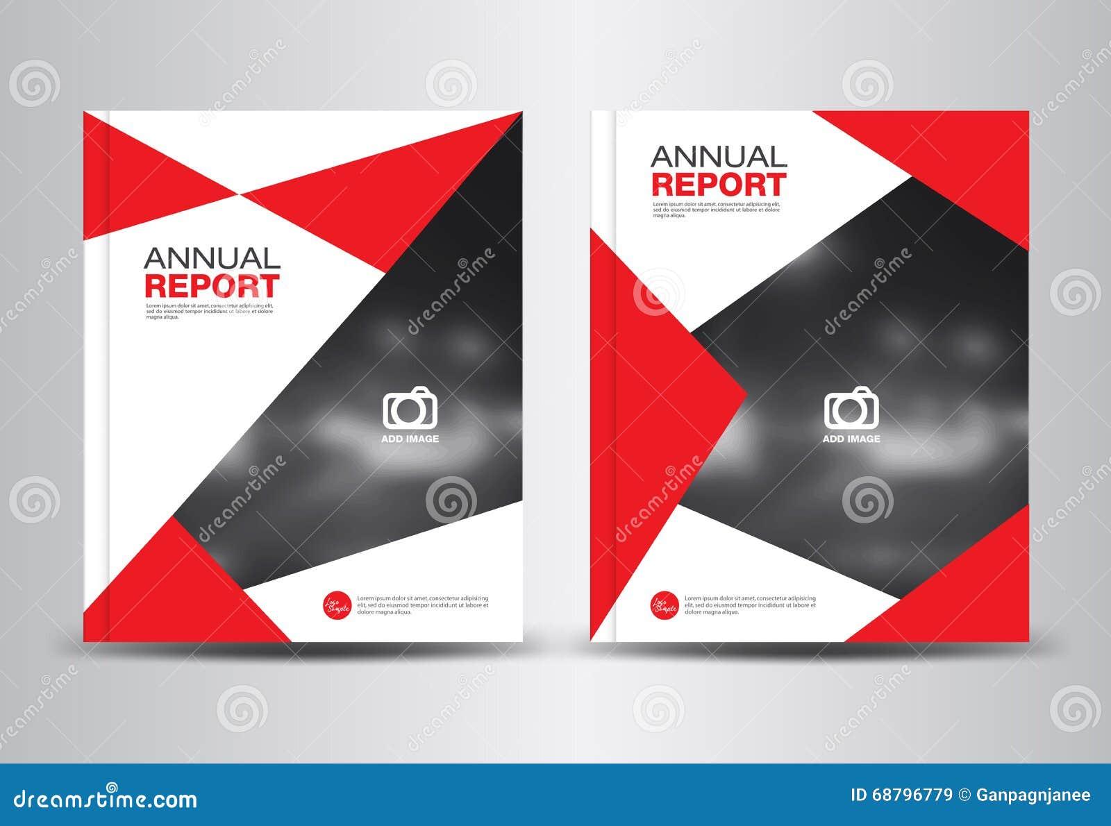 Ejemplo Del Vector De La Plantilla Del Informe Anual Ilustración ...